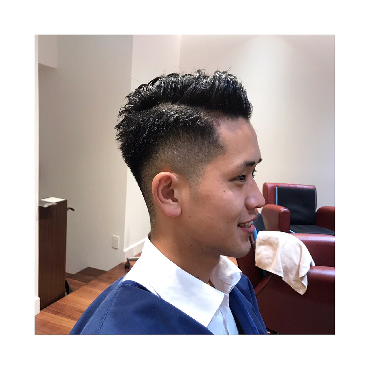 ナチュラル 刈り上げ メンズカット ショート ヘアスタイルや髪型の写真・画像