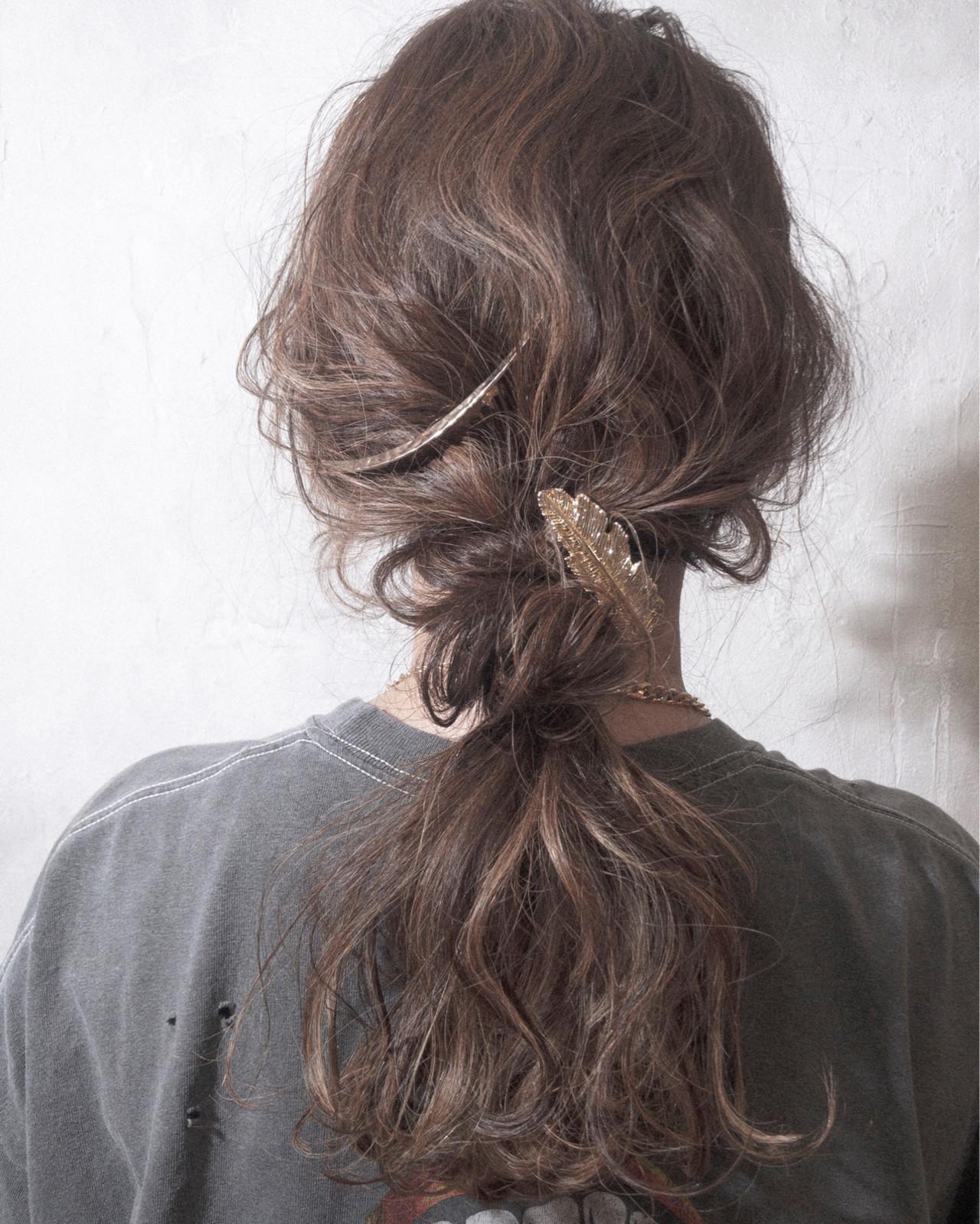 ストリート デート 簡単ヘアアレンジ 結婚式 ヘアスタイルや髪型の写真・画像