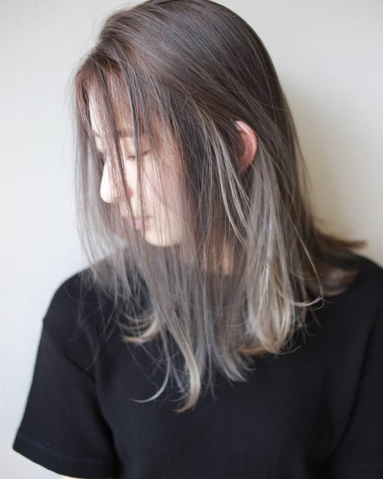 透明感溢れるナチュラルなミディアムヘアのイルミナカラー 松田武法amitiebypretty