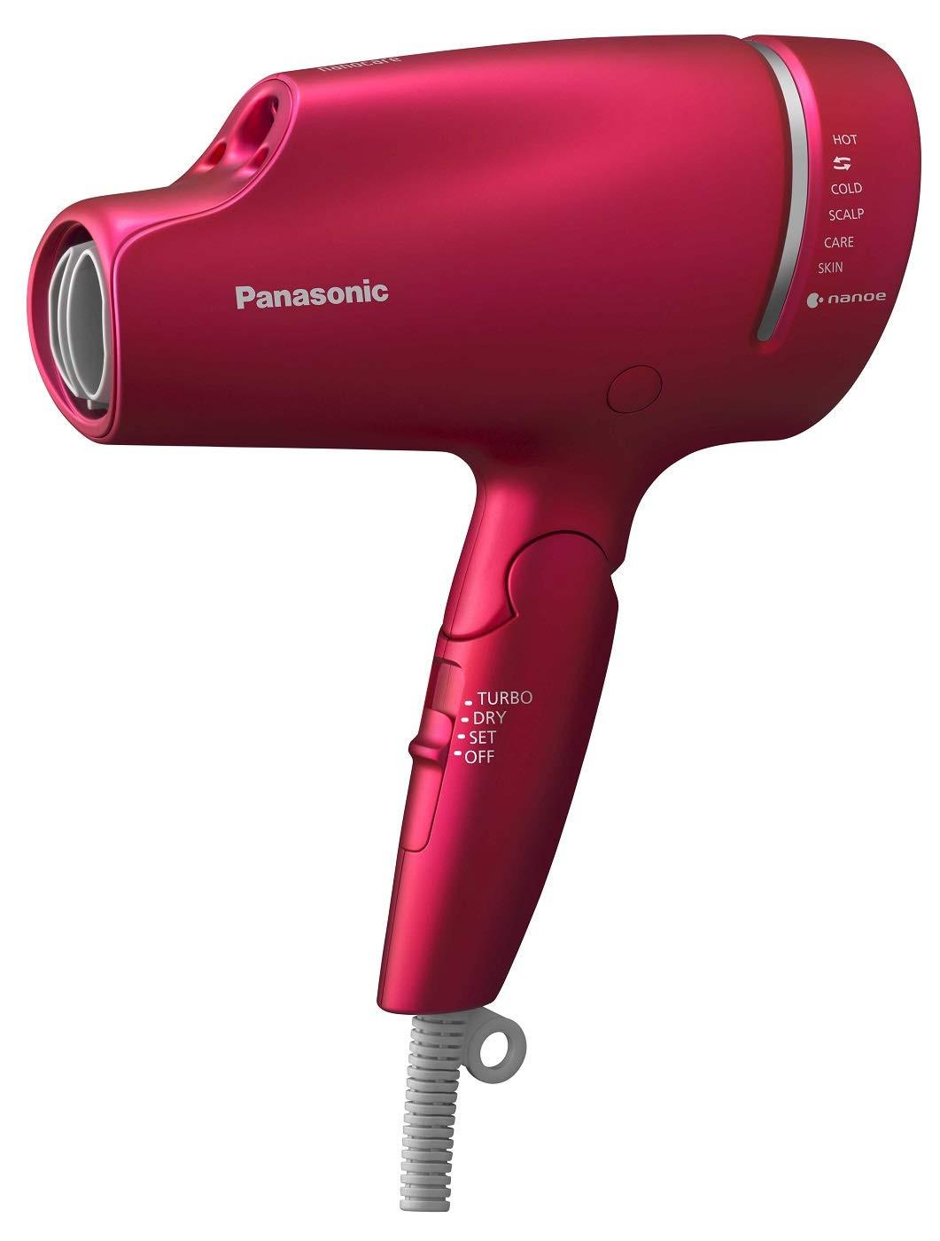 毛先までまとまりのある髪にする「パナソニック ヘアドライヤー ナノケア ルージュピンク EH-NA9A-RP」