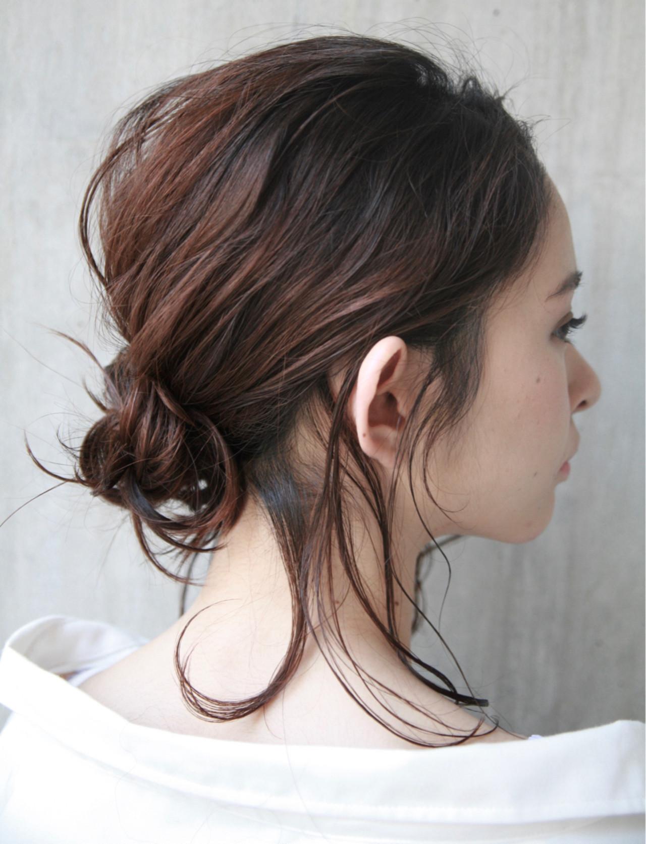 ナチュラル 簡単ヘアアレンジ 夏 ヘアアレンジ ヘアスタイルや髪型の写真・画像