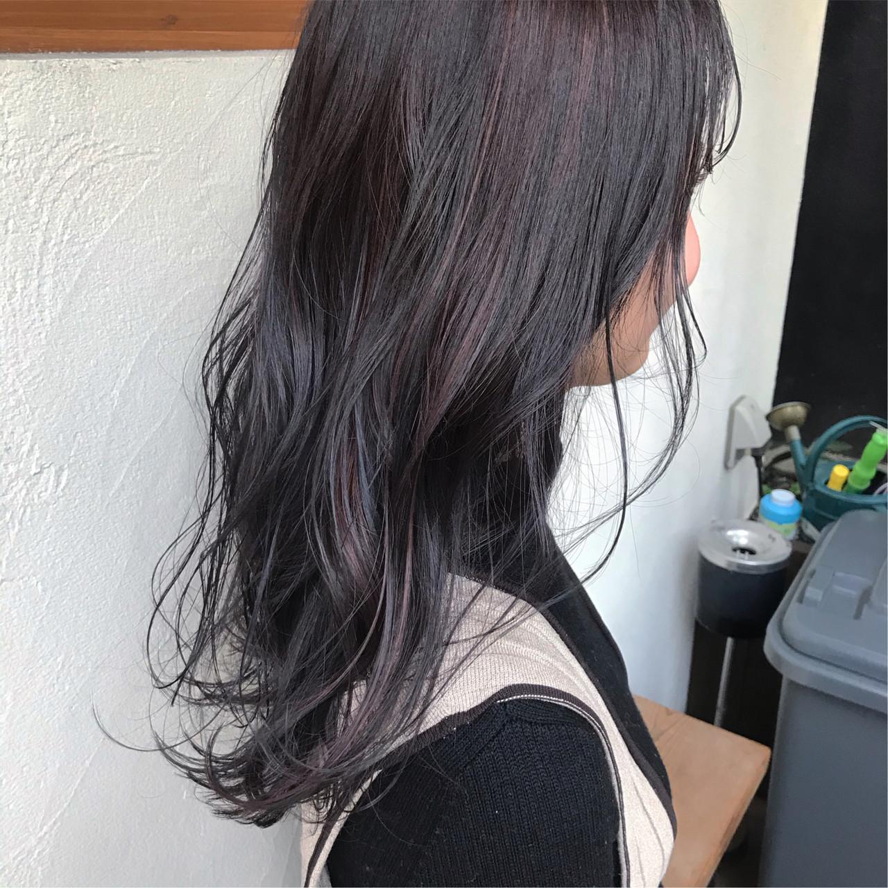 ナチュラル パープルカラー トワイライトパープル ピンクパープル ヘアスタイルや髪型の写真・画像