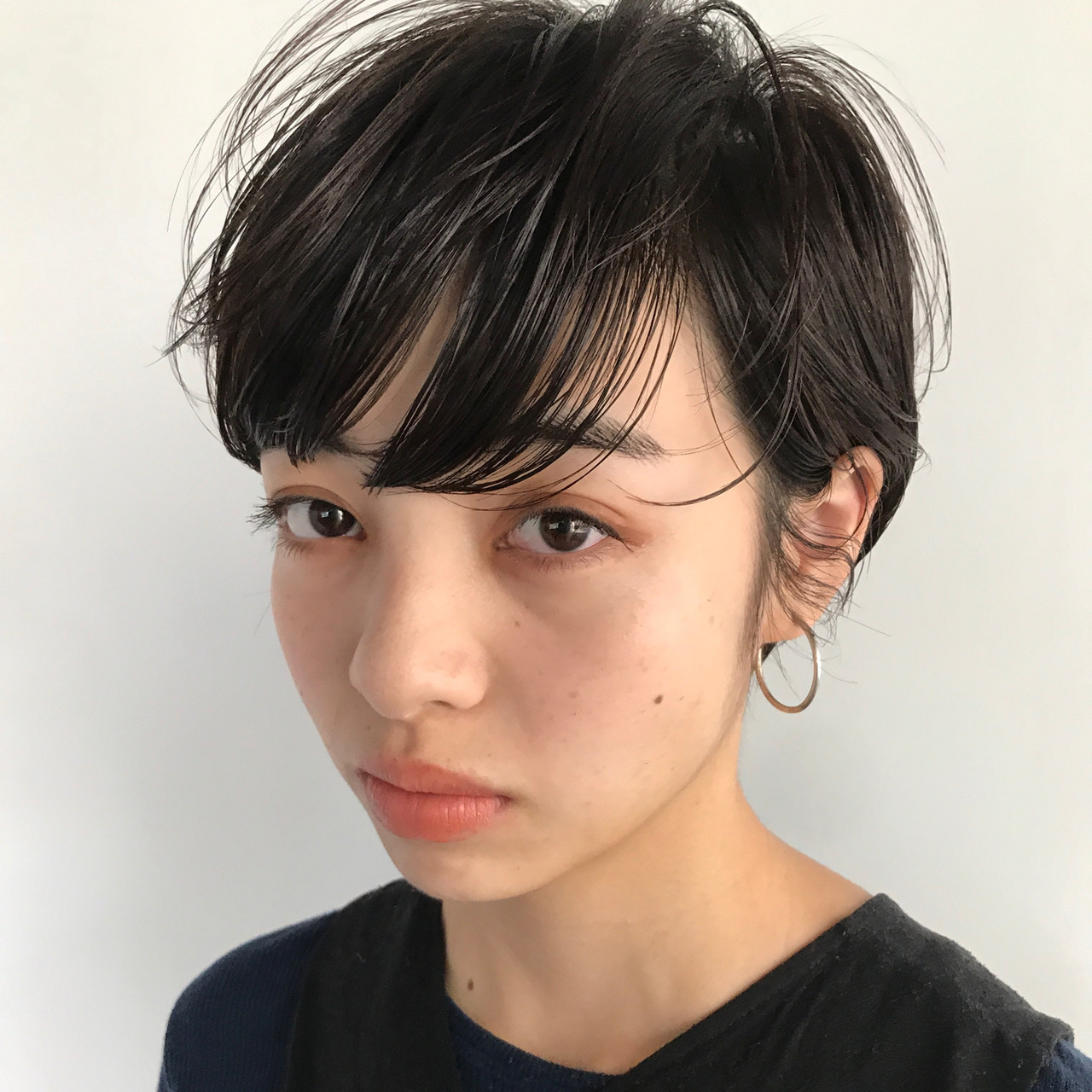 ナチュラル 前髪パーマ 前髪 ショート ヘアスタイルや髪型の写真・画像
