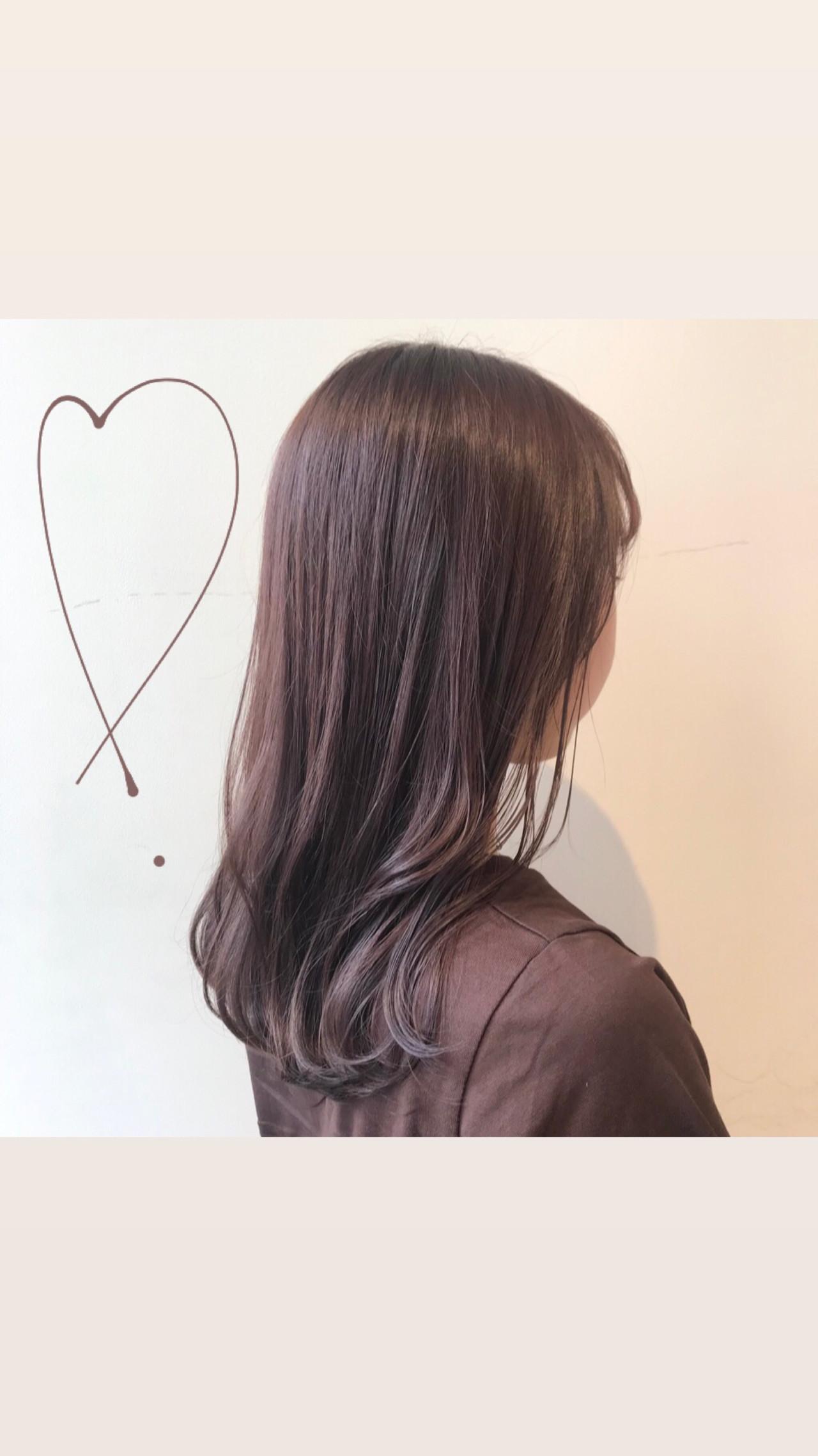 透明感カラー ピンクブラウン ラベージュ ピンクアッシュ ヘアスタイルや髪型の写真・画像