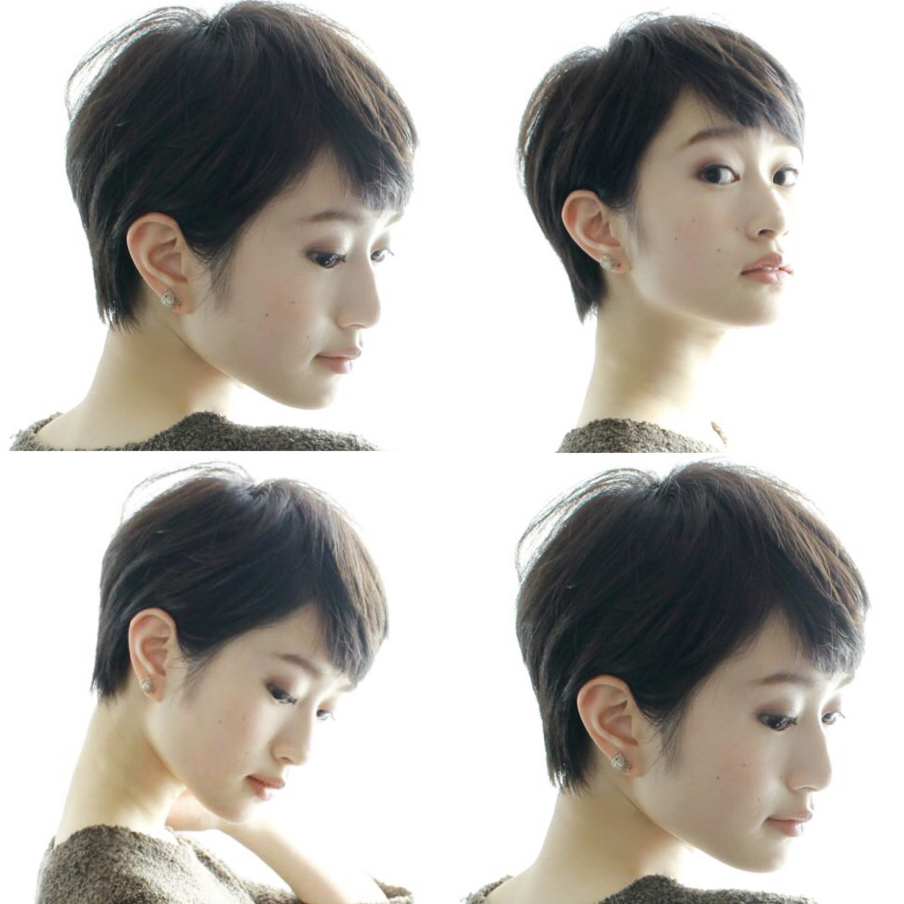 ショートボブ ナチュラル ショート 外国人風 ヘアスタイルや髪型の写真・画像
