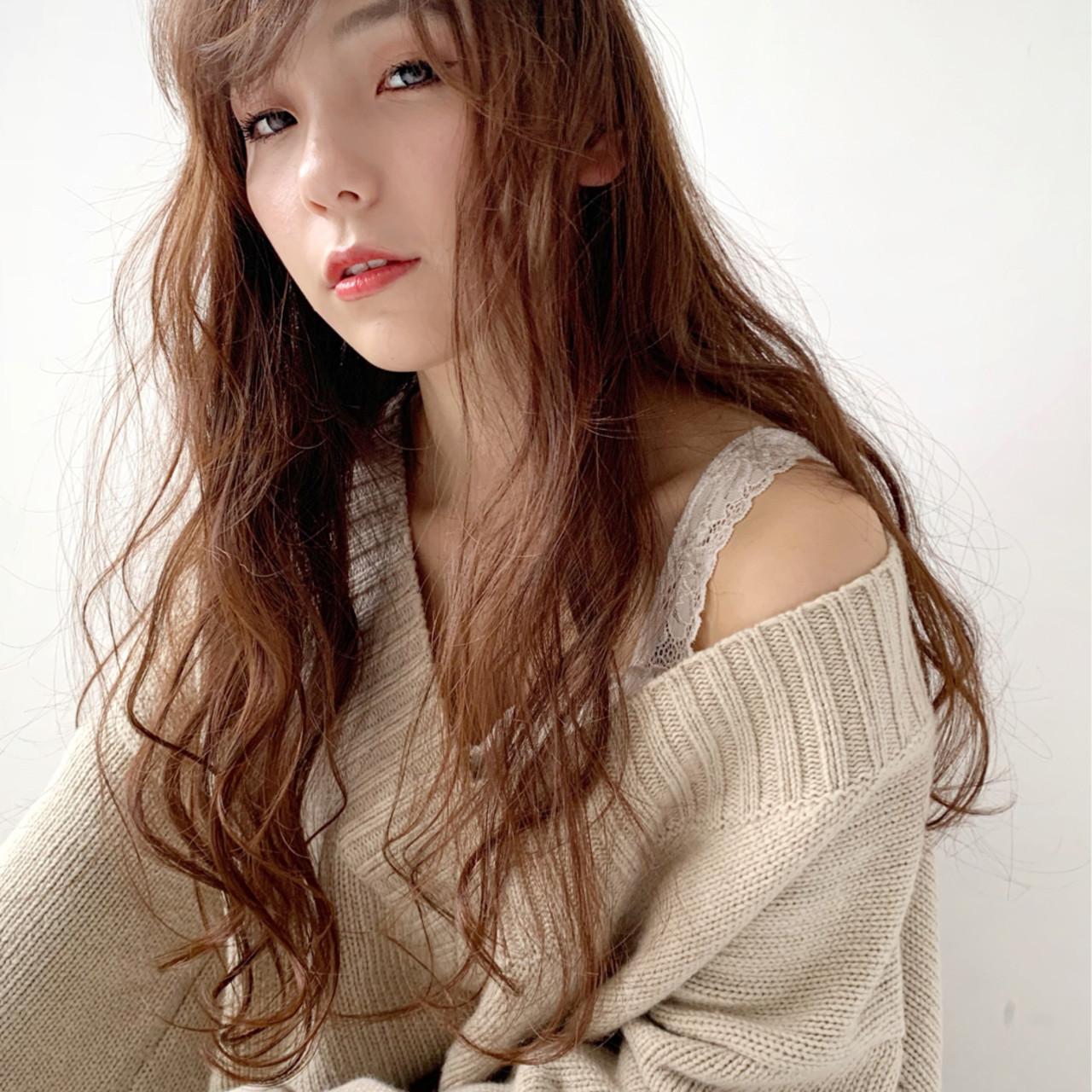 大人カジュアル ニュアンスヘア 大人かわいい ブラウンベージュ ヘアスタイルや髪型の写真・画像