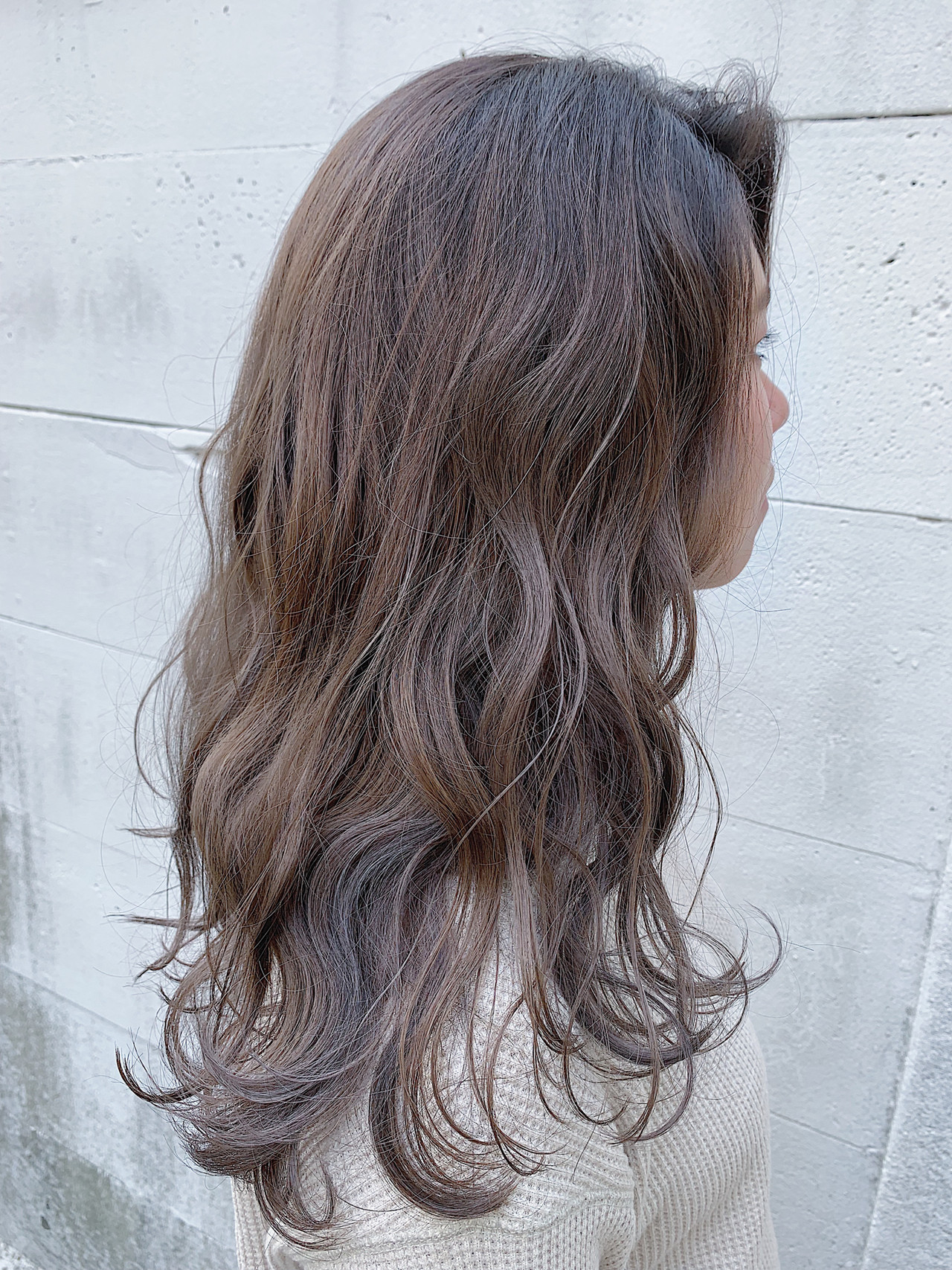 グラデーションカラー 外国人風 ラベージュ 大人ハイライト ヘアスタイルや髪型の写真・画像