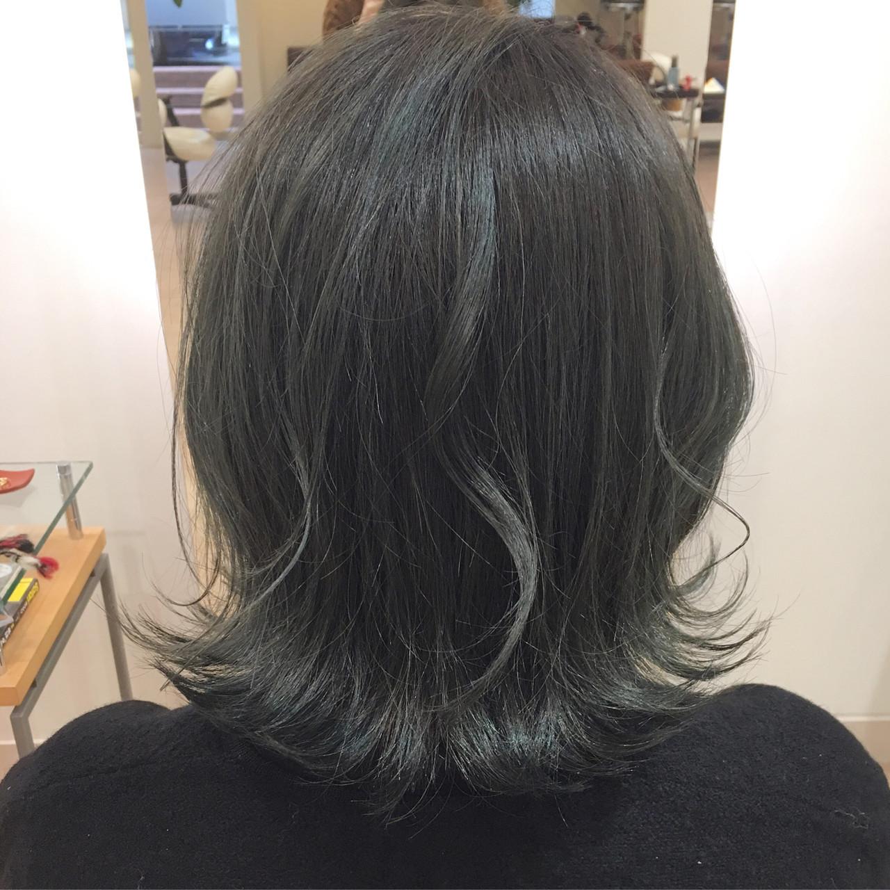 紫 青紫 ブルーラベンダー 緑 ヘアスタイルや髪型の写真・画像