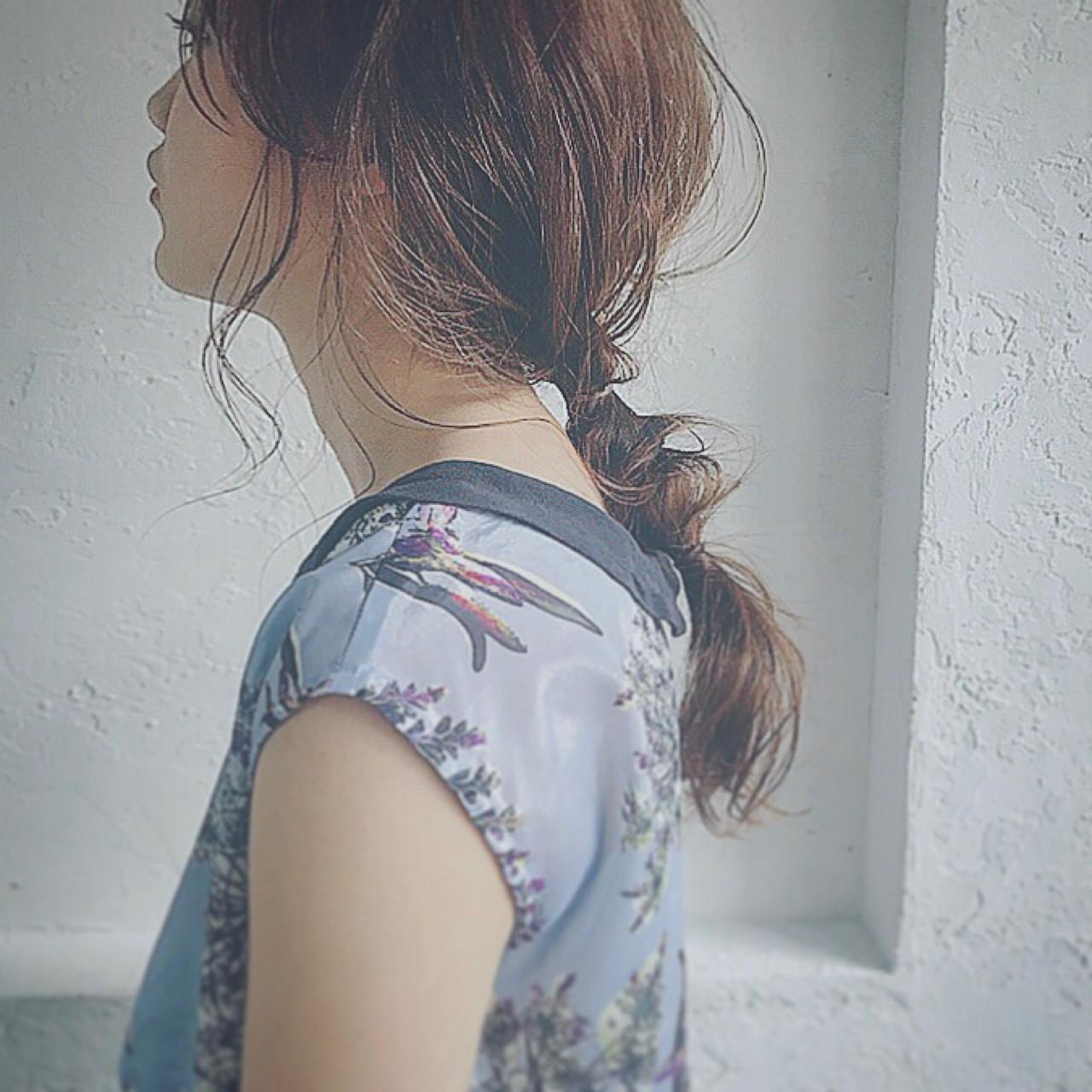 ヘアアレンジ 前髪あり フリンジバング ナチュラル ヘアスタイルや髪型の写真・画像