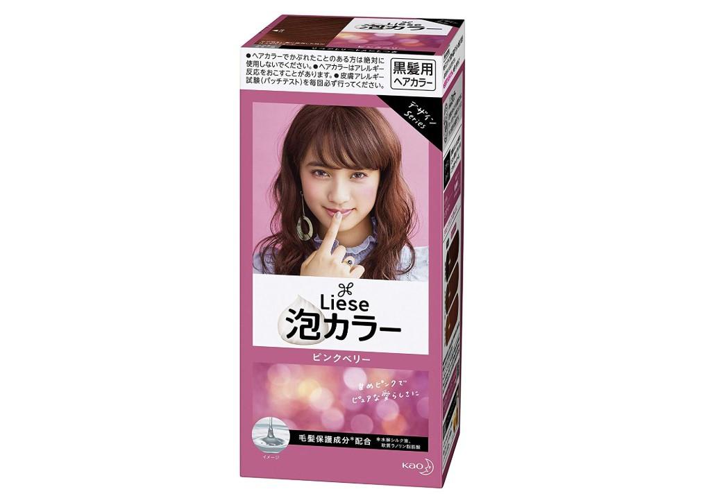 女子っぽピンクの「リーゼ プリティア泡カラー ピンクベリー 」