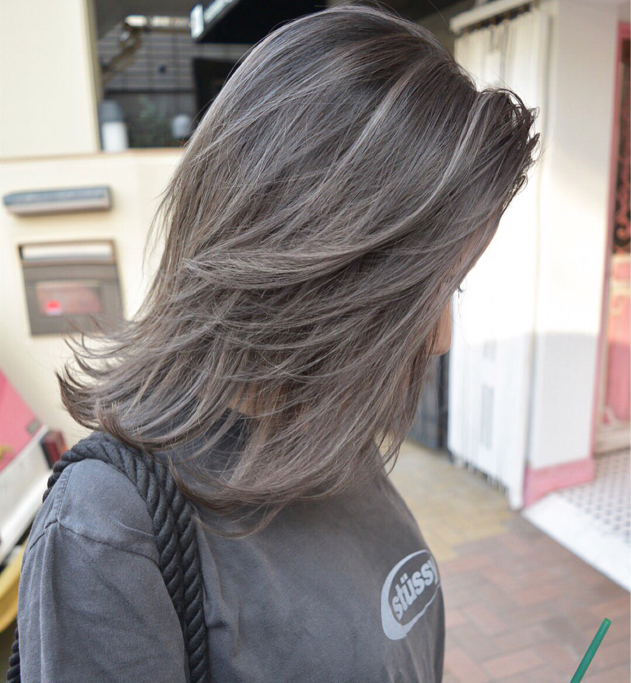 外国人風 ミディアム ストリート 外国人風カラー ヘアスタイルや髪型の写真・画像