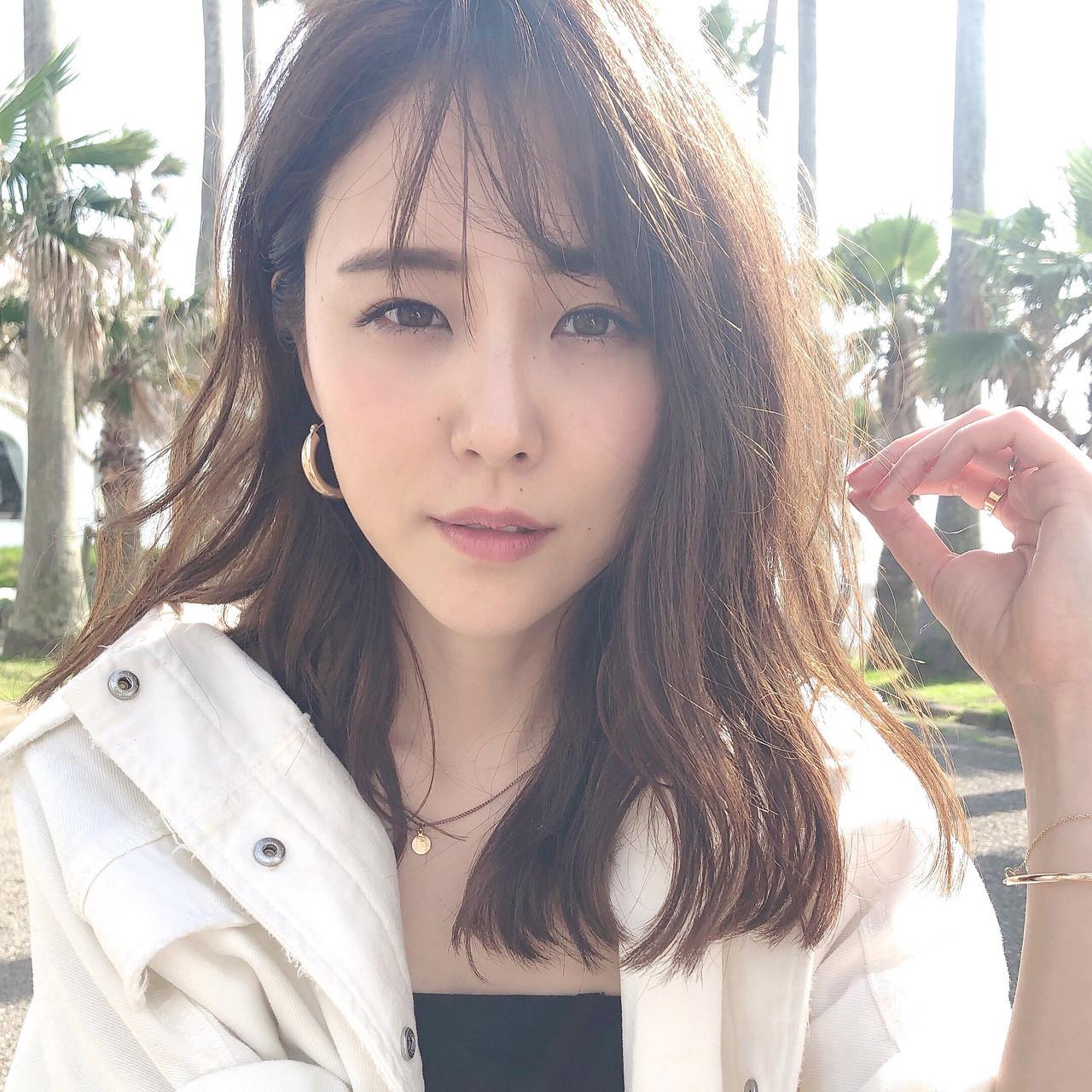 TOKIOトリートメント セミロング あざと毛 前髪あり ヘアスタイルや髪型の写真・画像