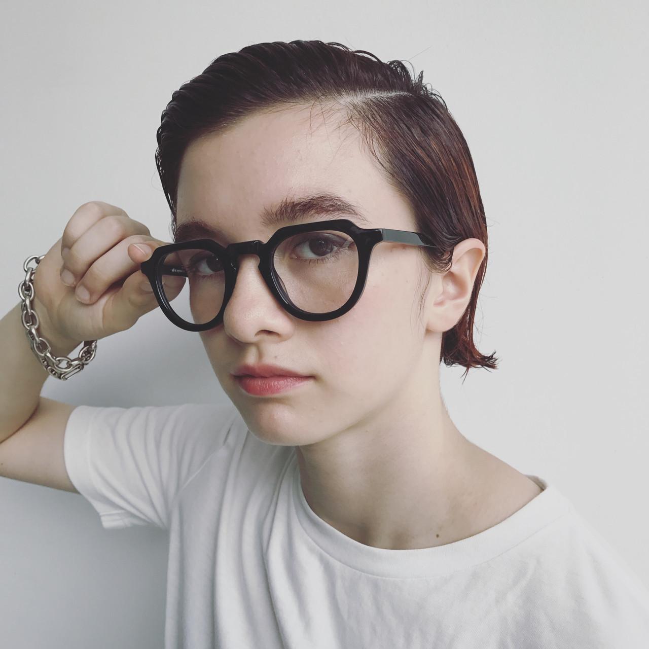 ショート ストリート 外国人風 ヘアアレンジ ヘアスタイルや髪型の写真・画像