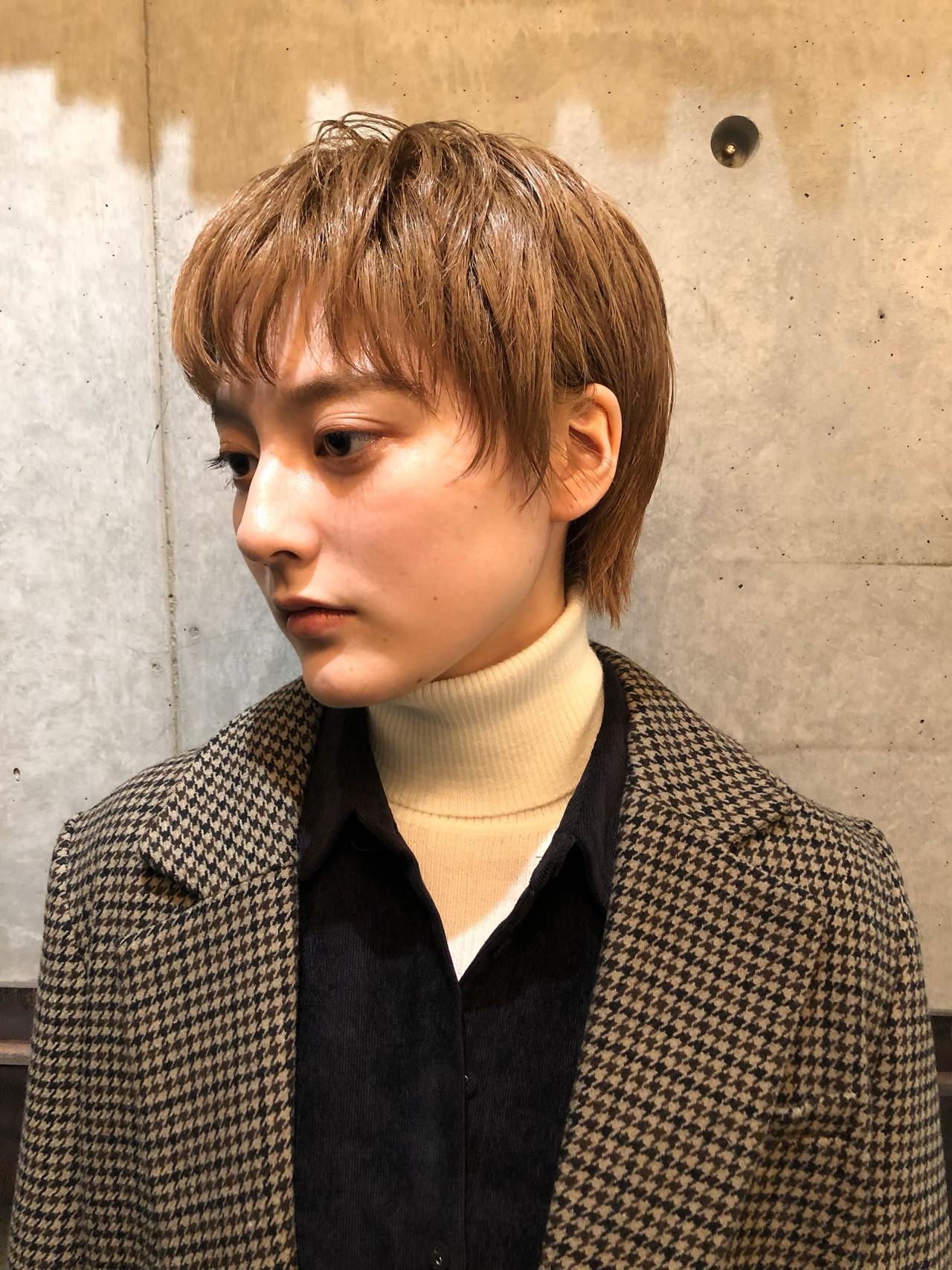 ハイトーン ブリーチ ショート ストリート ヘアスタイルや髪型の写真・画像
