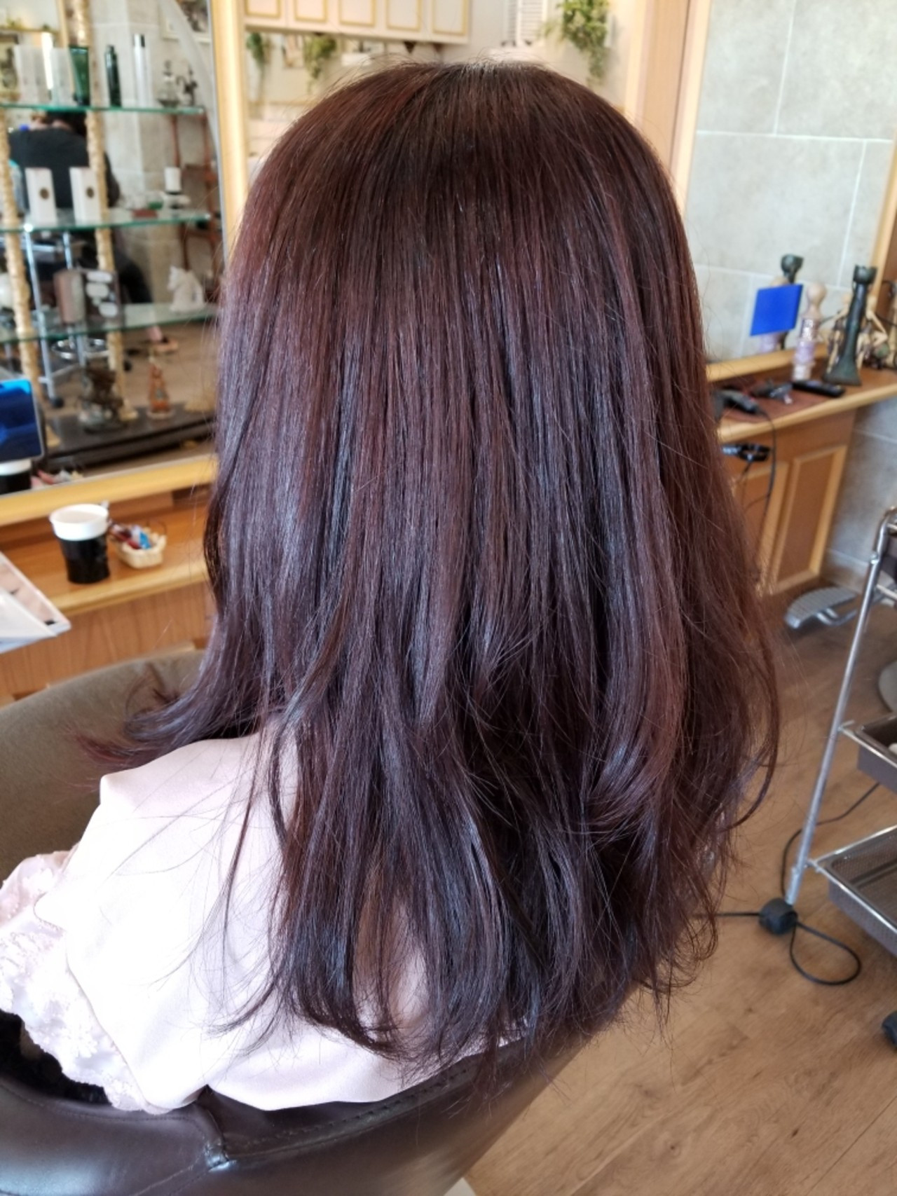 ダブルカラー ピンクブラウン フェミニン ロング ヘアスタイルや髪型の写真・画像