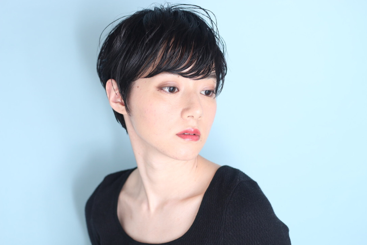 白髪染め ナチュラル ベリーショート ショート ヘアスタイルや髪型の写真・画像