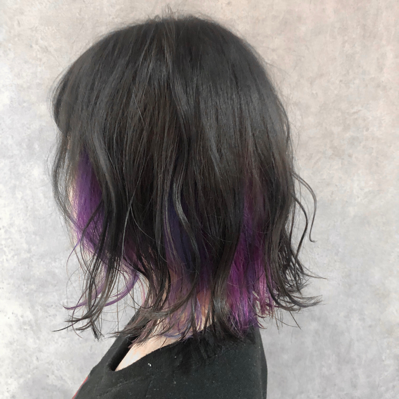 ミニボブ ウルフカット ミディアム ナチュラル ヘアスタイルや髪型の写真・画像