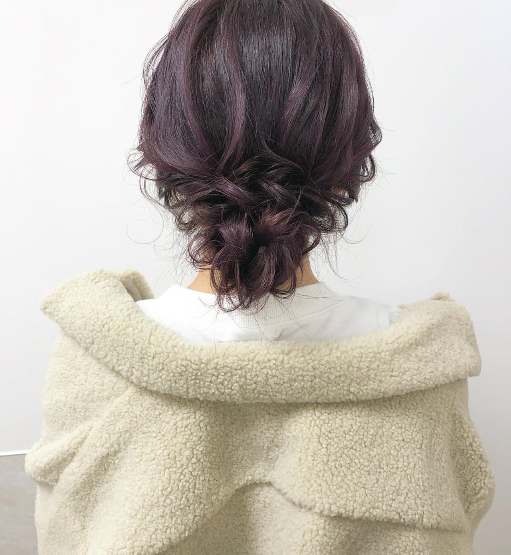 ナチュラル セミロング シニヨン 大人可愛い ヘアスタイルや髪型の写真・画像