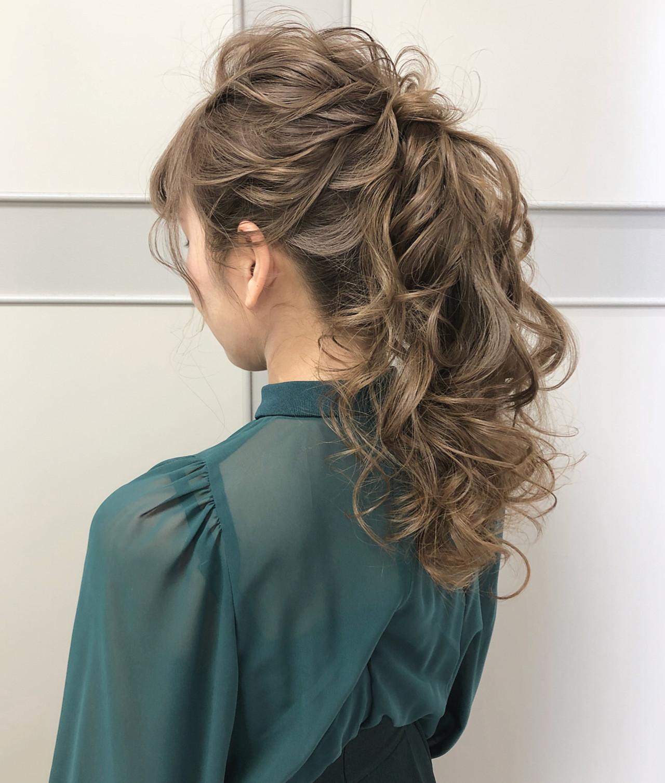 ポニーテールアレンジ ロング エレガント ポニーテール ヘアスタイルや髪型の写真・画像