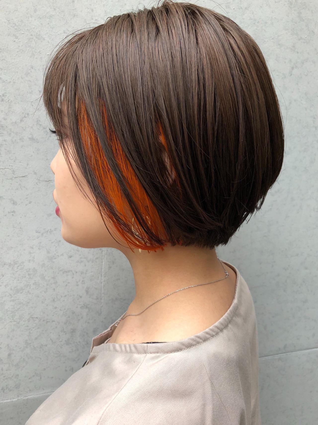 人気色のインナーカラーでスタイリッシュに♪簡単におしゃれヘアになれる!