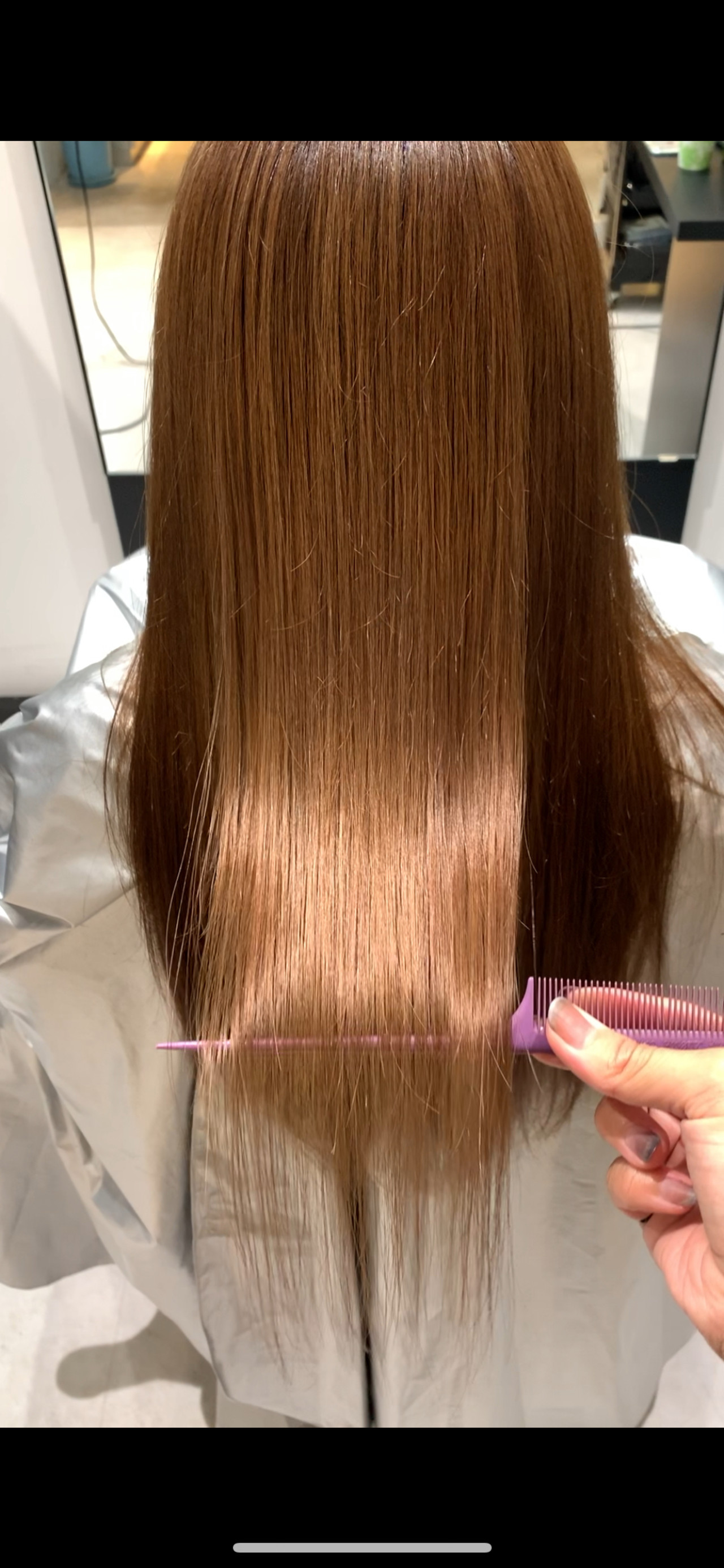 ロング トリートメント ツヤ髪 ストレート ヘアスタイルや髪型の写真・画像