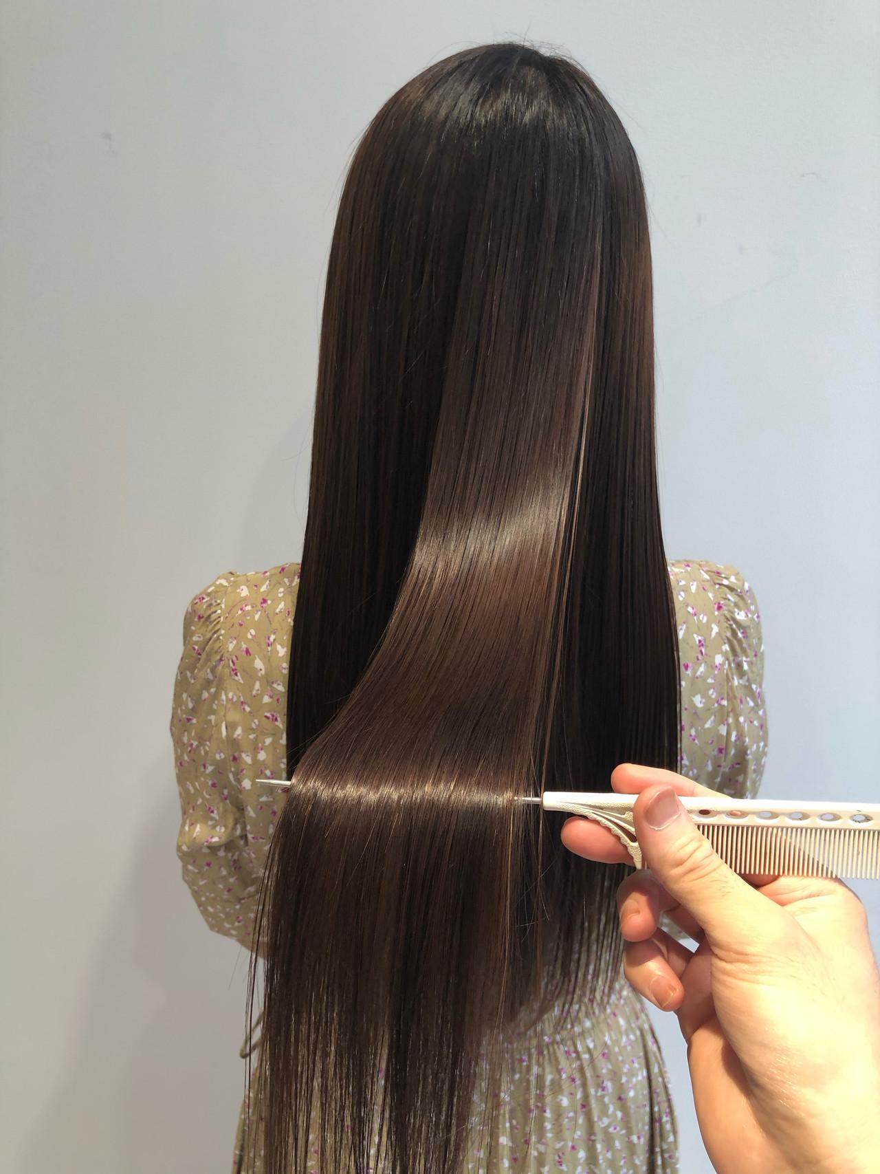 髪質改善 ロング 最新トリートメント ナチュラル ヘアスタイルや髪型の写真・画像
