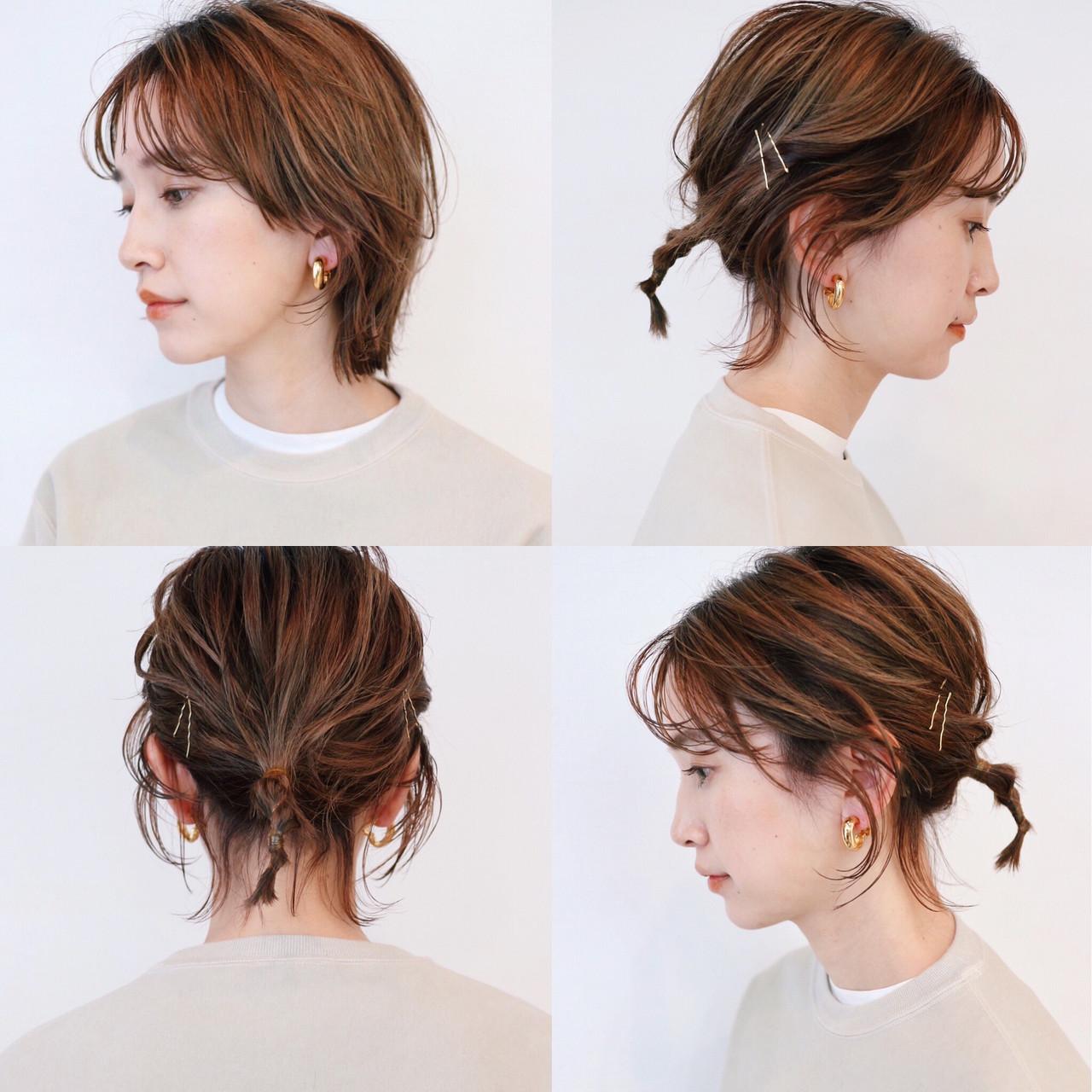 マッシュウルフ 簡単ヘアアレンジ ストリート ウルフカット ヘアスタイルや髪型の写真・画像