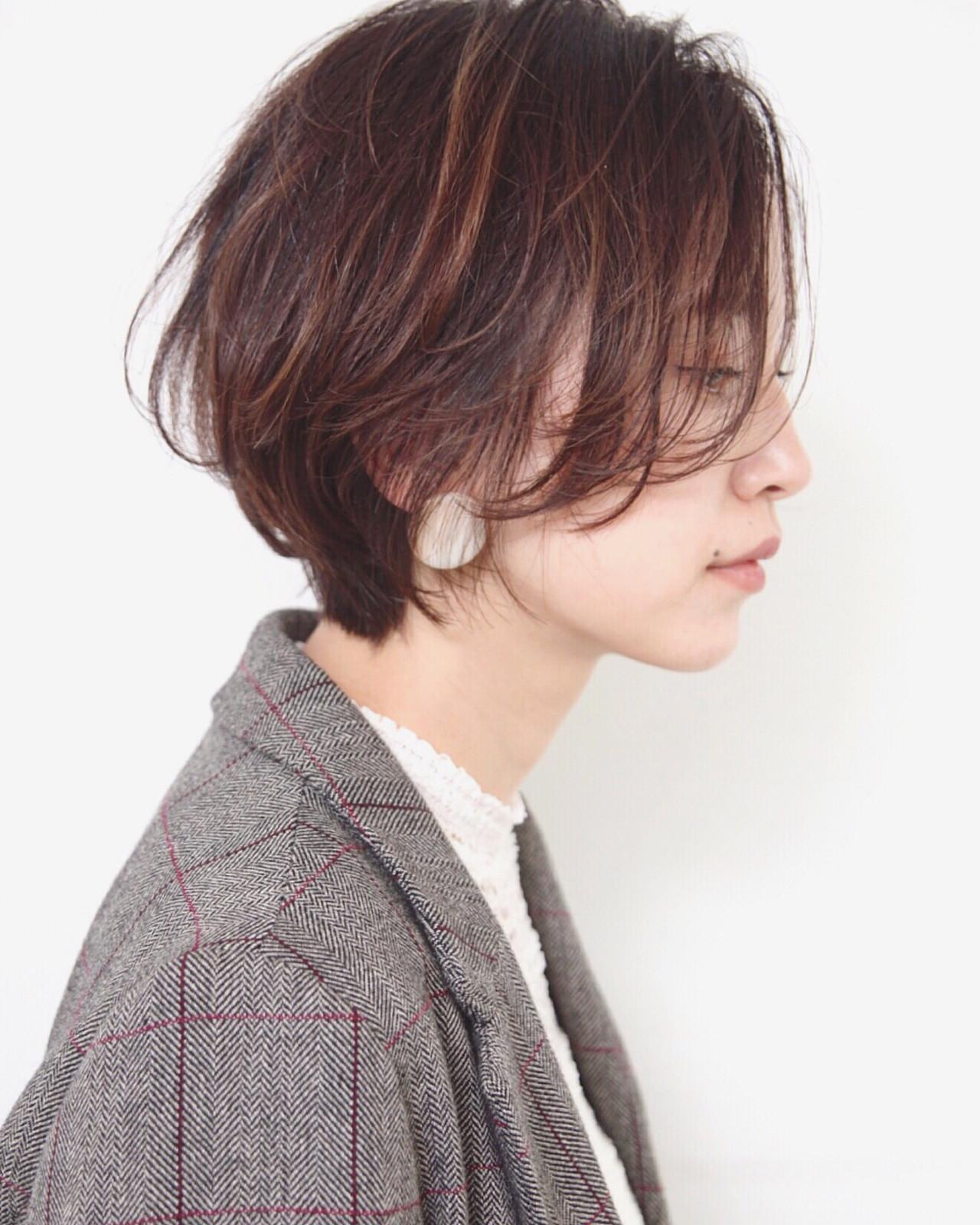 外国人風カラー ショート ニュアンスヘア エレガント ヘアスタイルや髪型の写真・画像