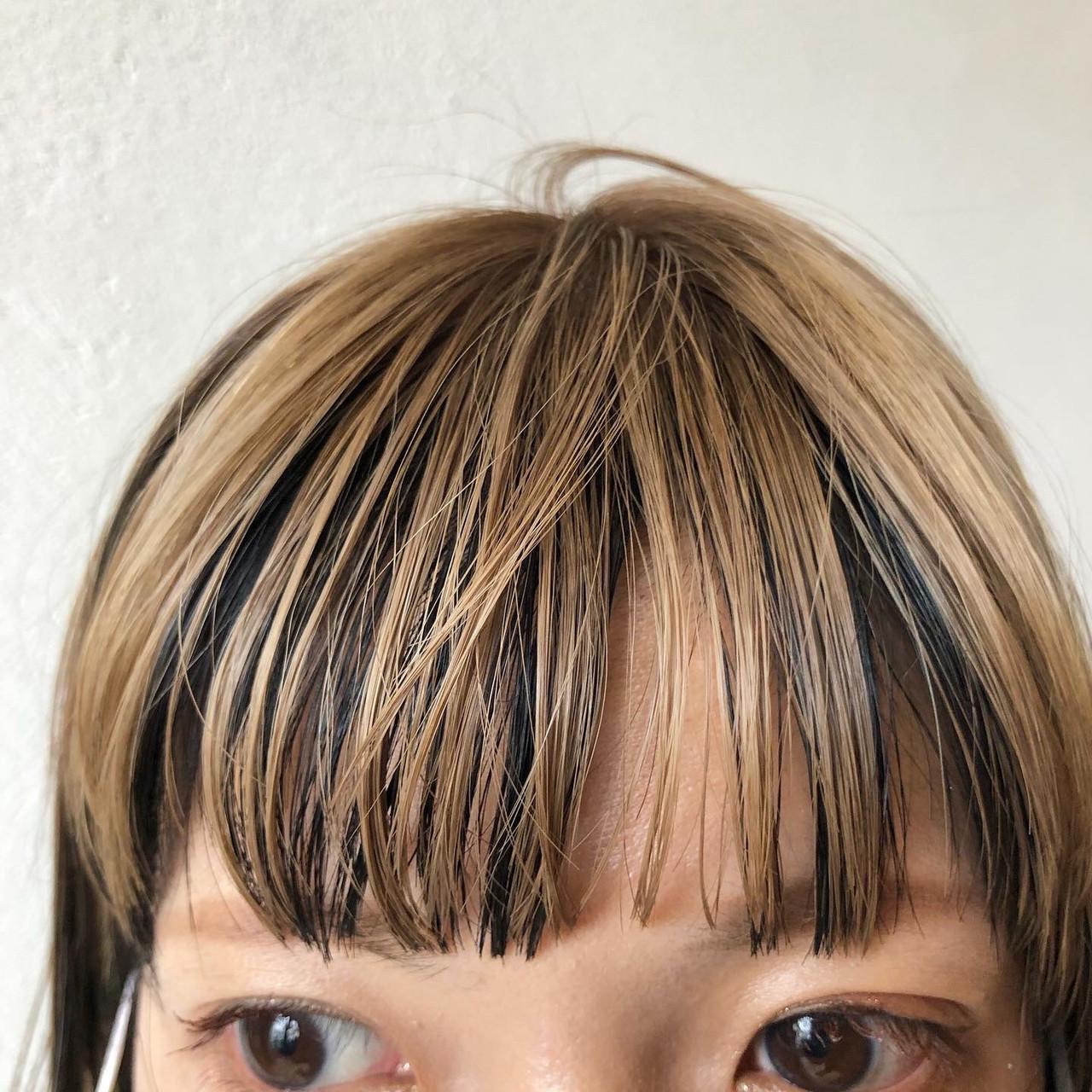 インナーカラー #インナーカラー モード ボブ ヘアスタイルや髪型の写真・画像