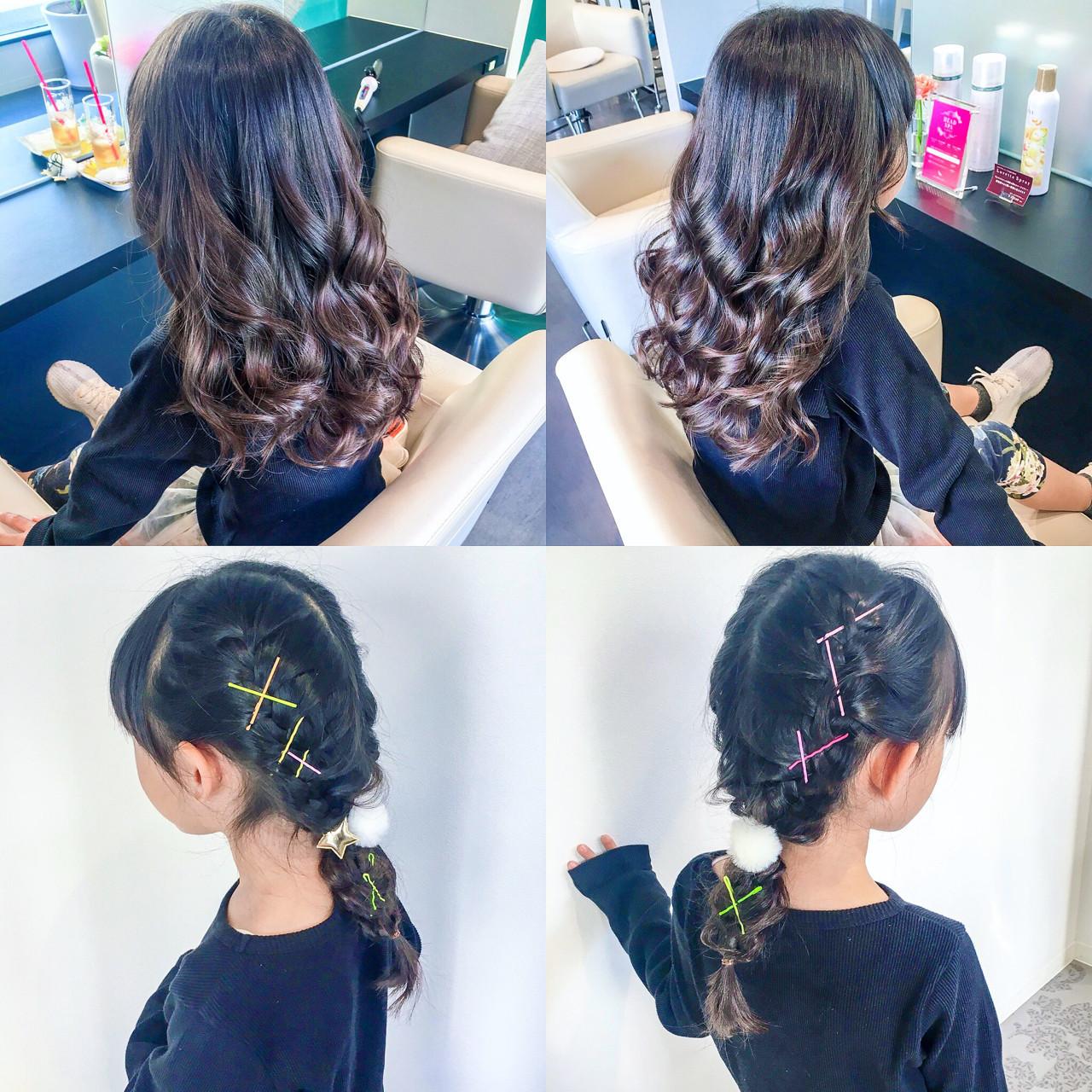 冬 ヘアアレンジ セミロング フェミニン ヘアスタイルや髪型の写真・画像
