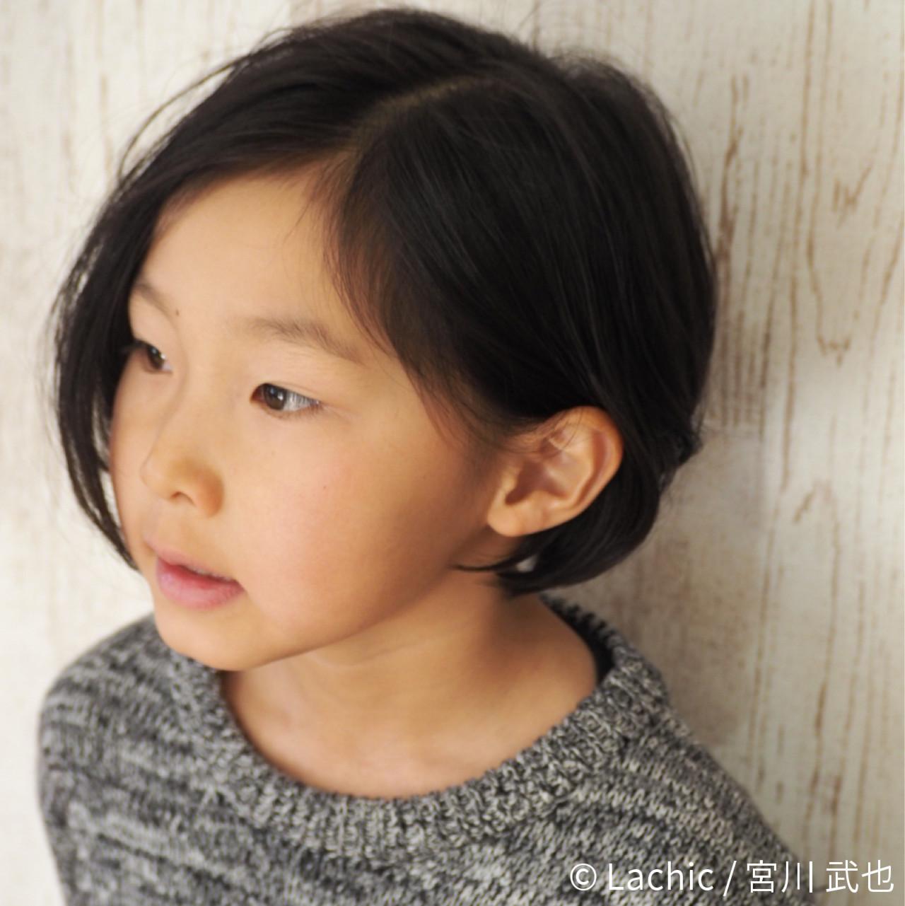 色気 ボブ ニュアンス 子供 ヘアスタイルや髪型の写真・画像