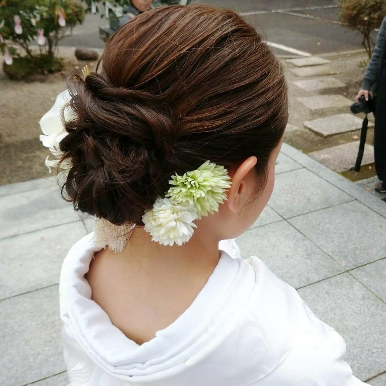 ヘアセット ロング 和装 和装髪型 ヘアスタイルや髪型の写真・画像