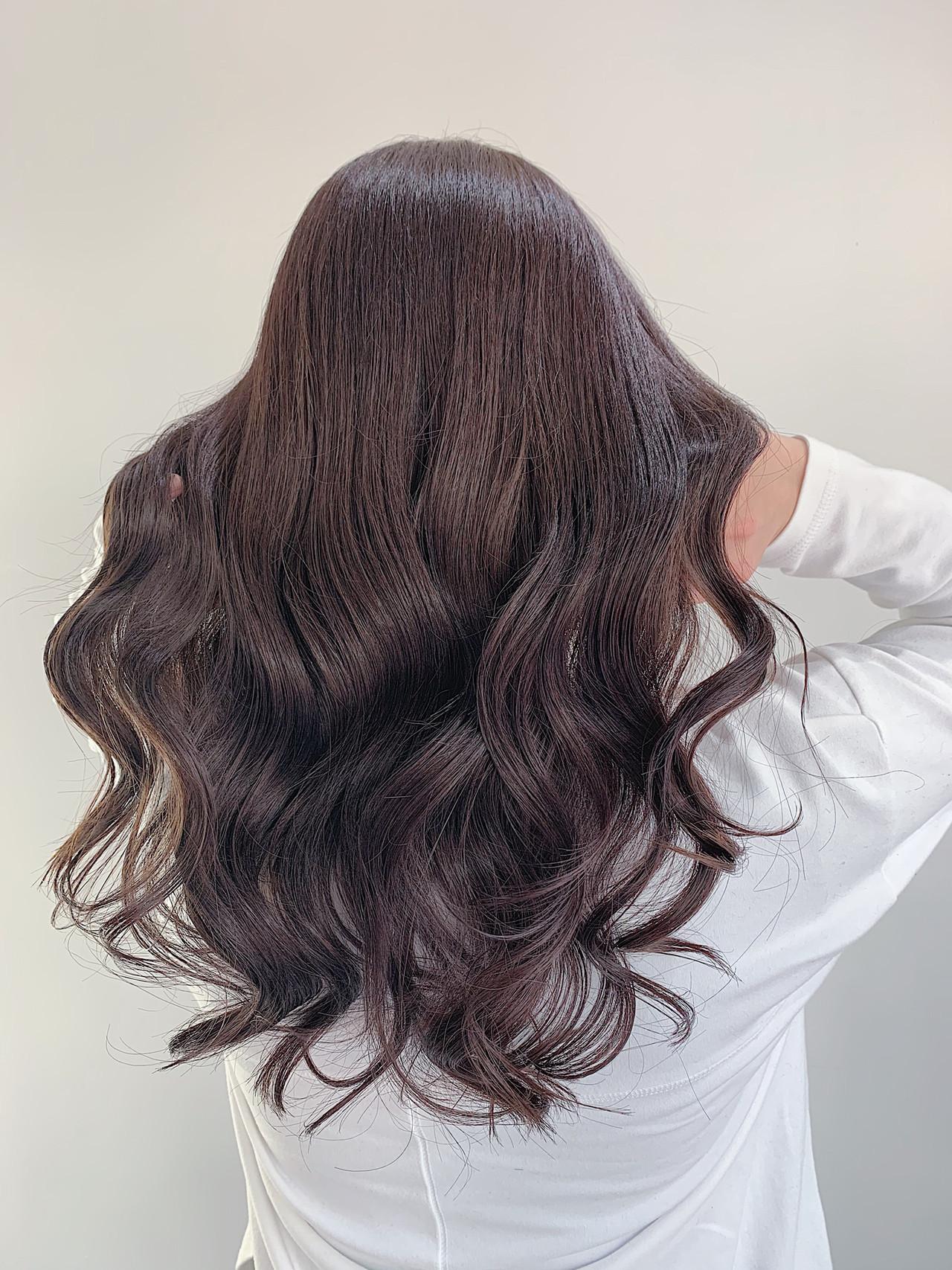 ロング 艶髪 ヘアセット フェミニン ヘアスタイルや髪型の写真・画像