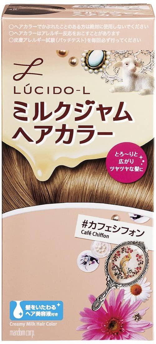 ムラなく濡れる「LUCIDO-L (ルシードエル) ミルクジャムヘアカラー #カフェシフォン」