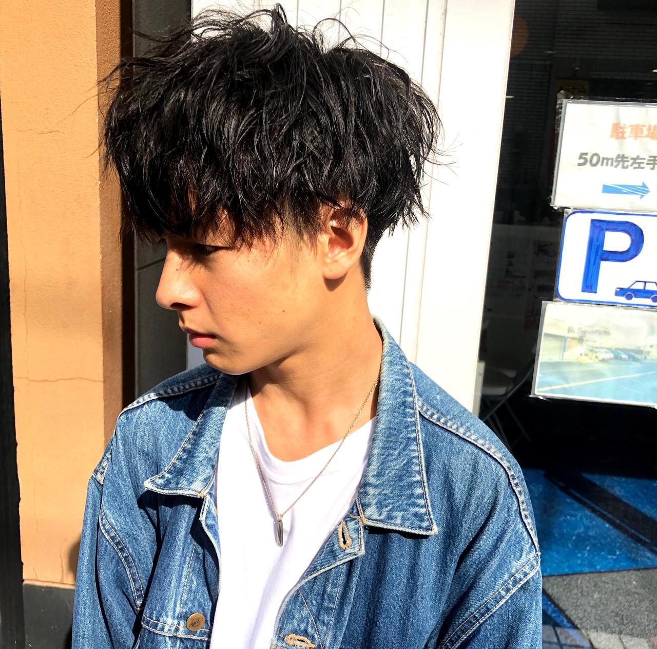 マッシュ ショート メンズパーマ ストリート ヘアスタイルや髪型の写真・画像