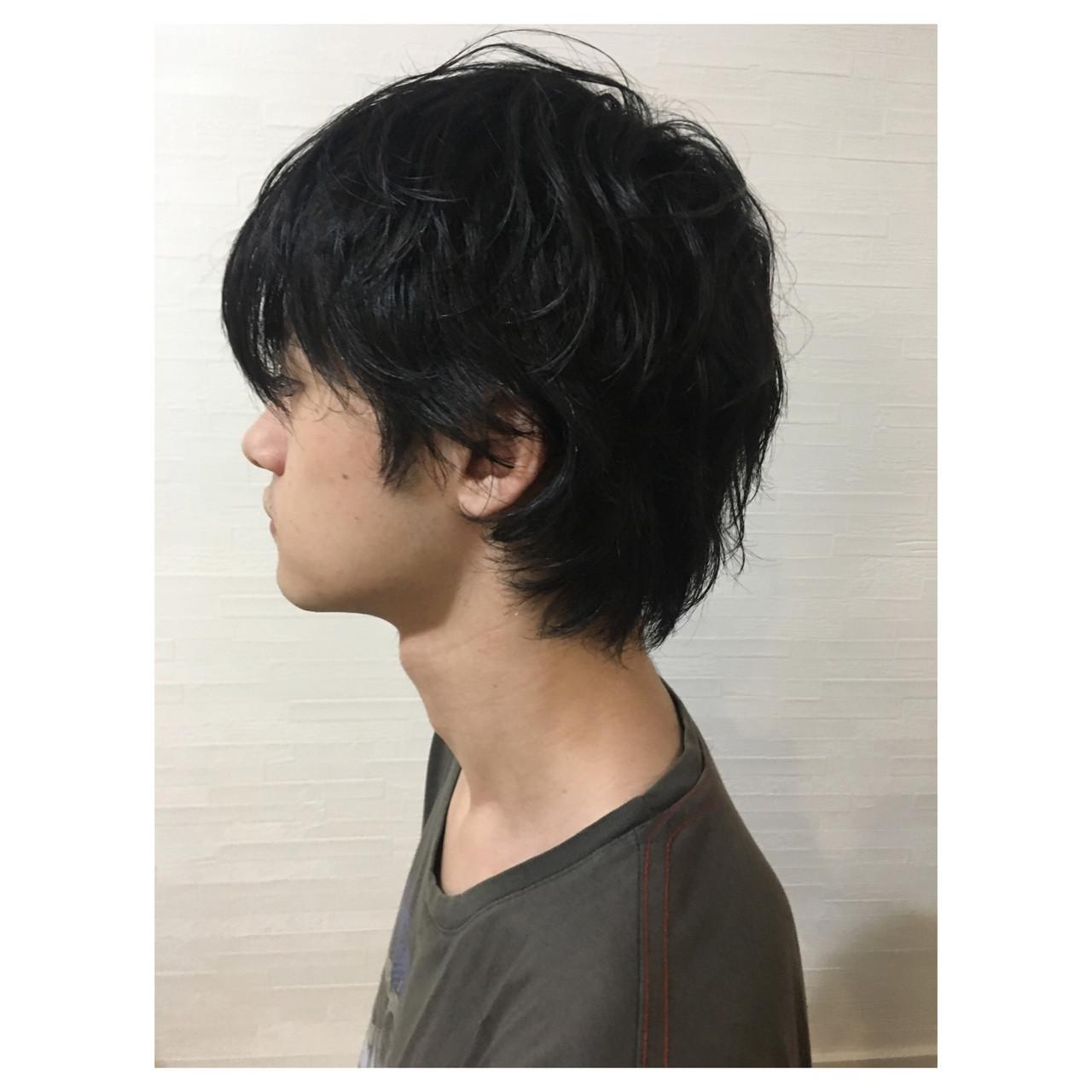 ウルフカット ショート マッシュウルフ メンズカット ヘアスタイルや髪型の写真・画像