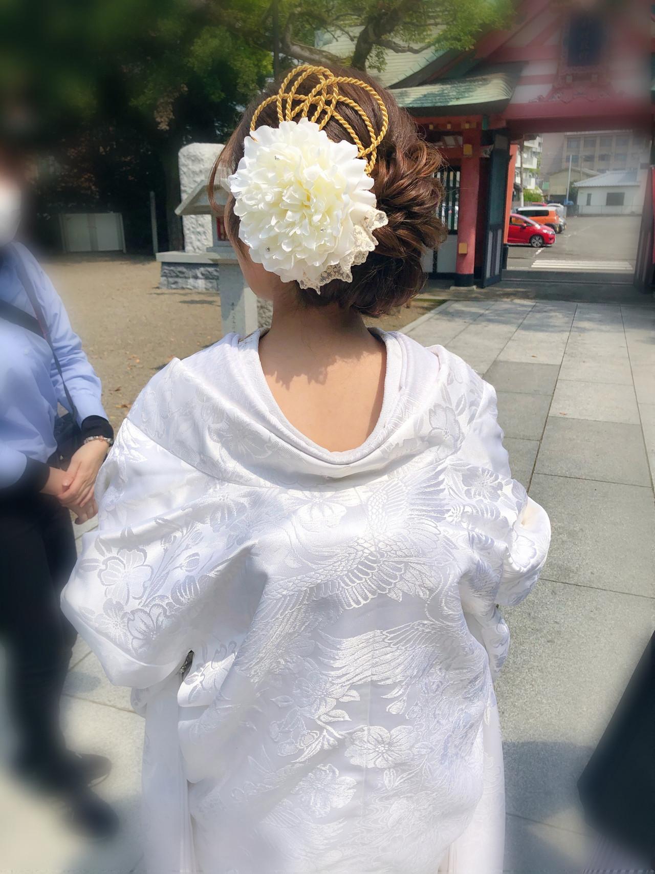 ブライダル 結婚式 ヘアセット 和装ヘア ヘアスタイルや髪型の写真・画像