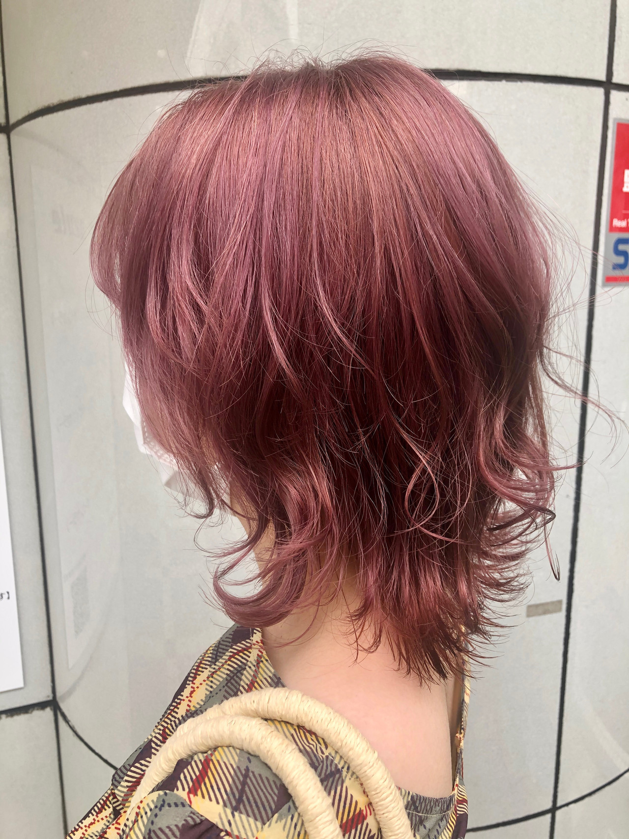 ストリート ダブルカラー ベリーピンク ピンクパープル ヘアスタイルや髪型の写真・画像
