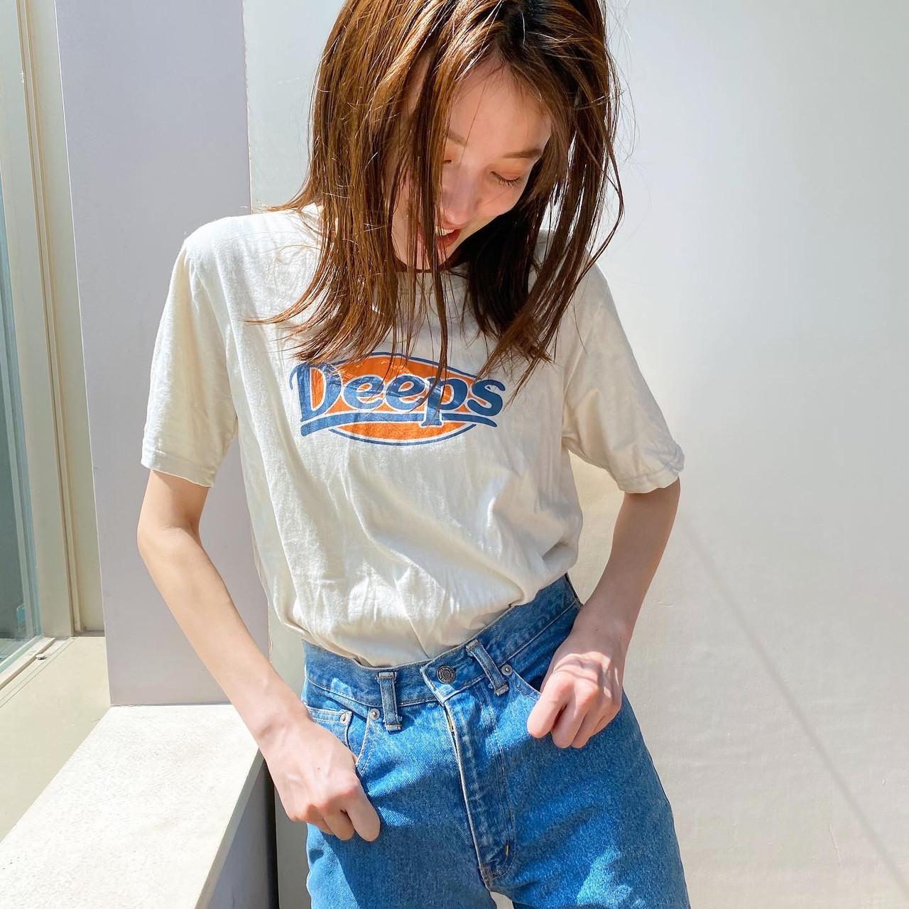 ミディアム 透明感カラー ベージュカラー ナチュラル ヘアスタイルや髪型の写真・画像