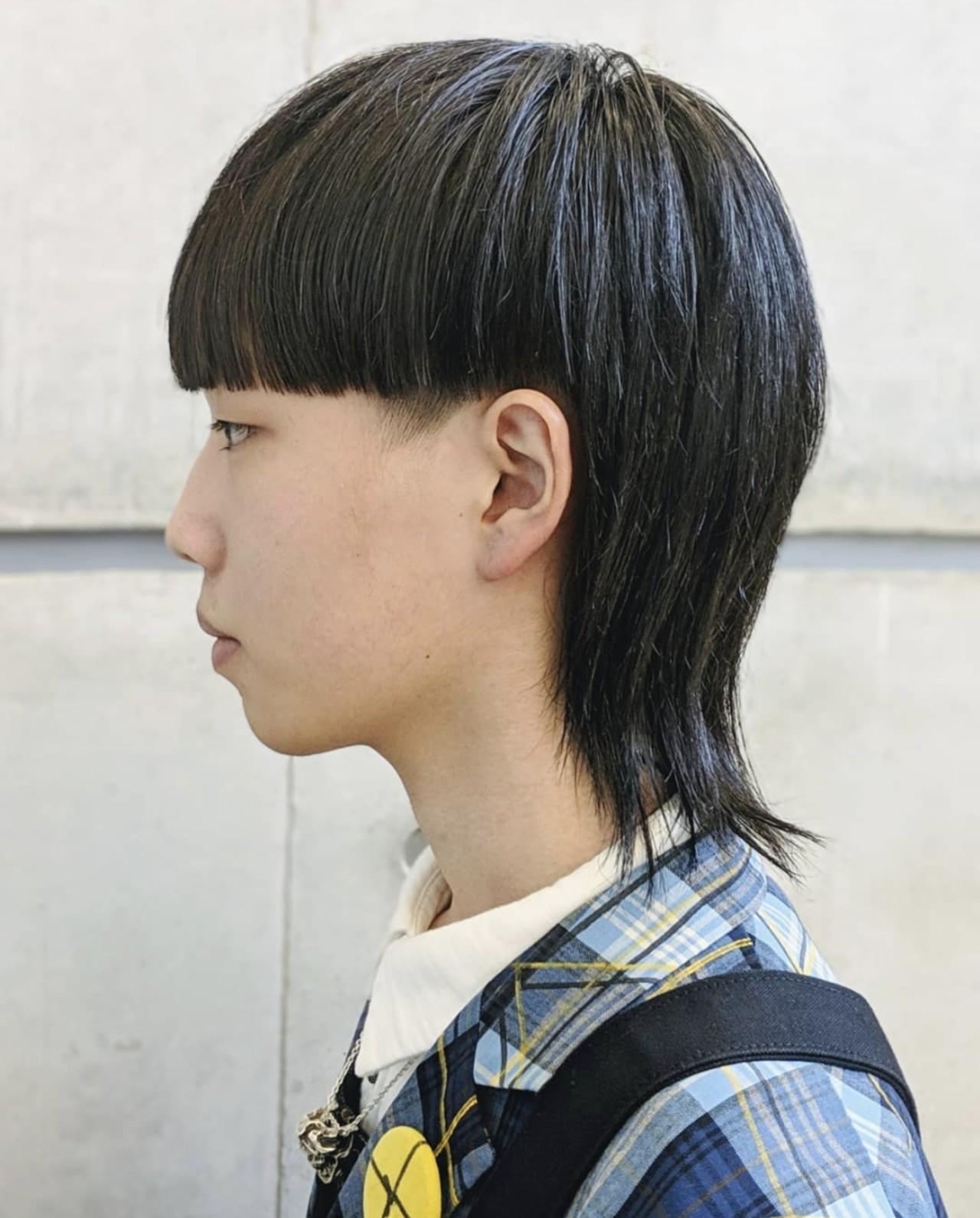 メンズショート マッシュウルフ ショート メンズヘア ヘアスタイルや髪型の写真・画像