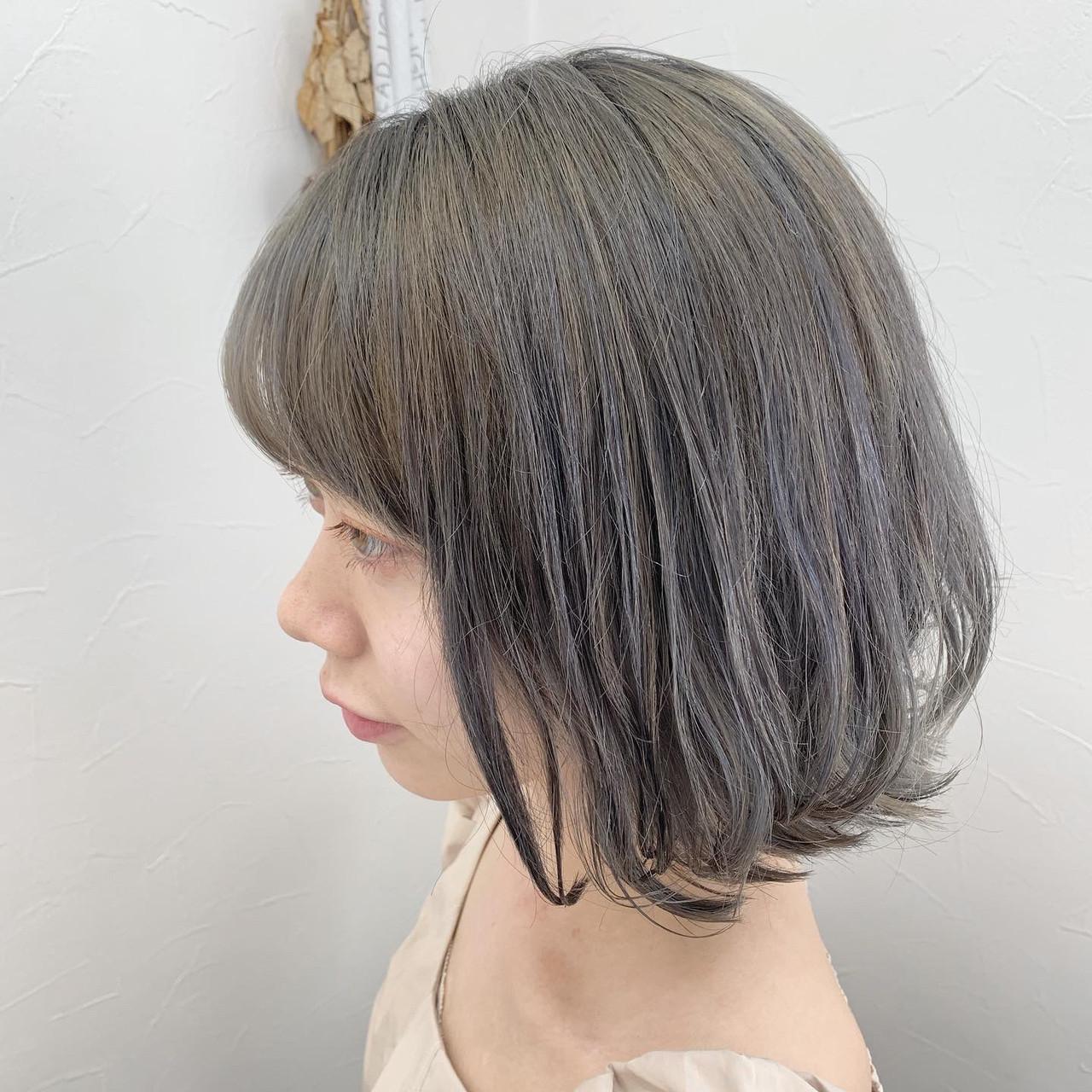 ラベージュ ガーリー グレージュ 簡単スタイリング ヘアスタイルや髪型の写真・画像