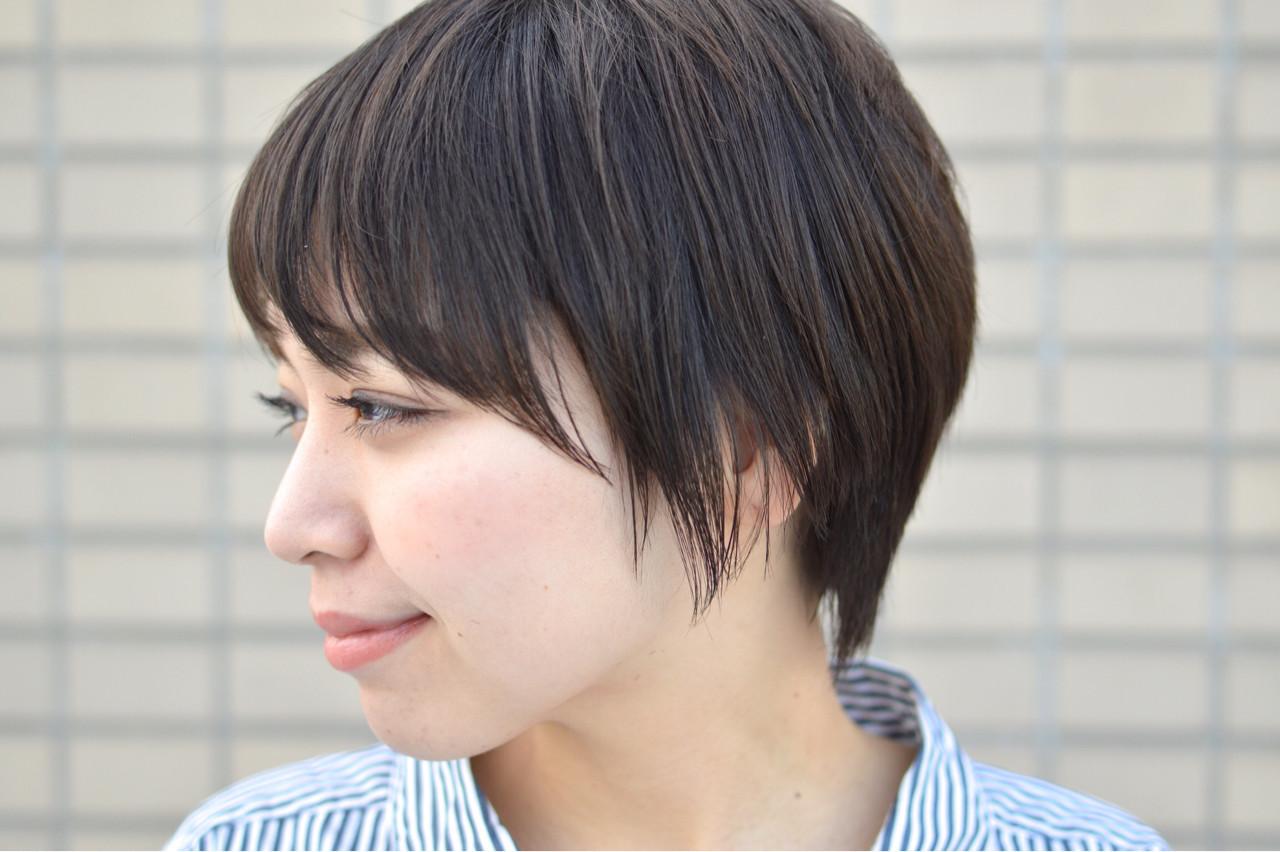 こなれ感 小顔 大人女子 ショート ヘアスタイルや髪型の写真・画像