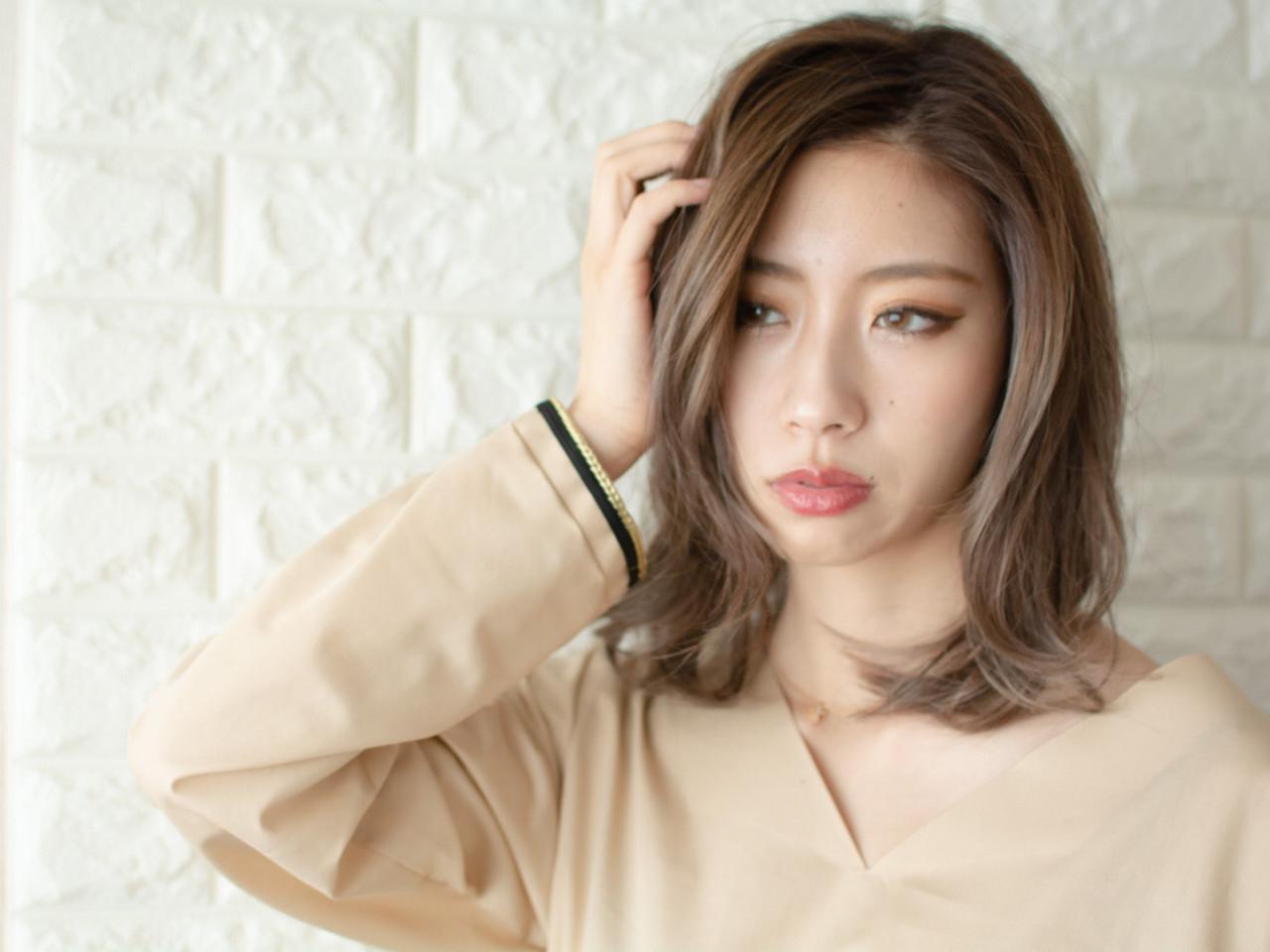 ミディアム n. 大人可愛い ミディアムヘアー ヘアスタイルや髪型の写真・画像