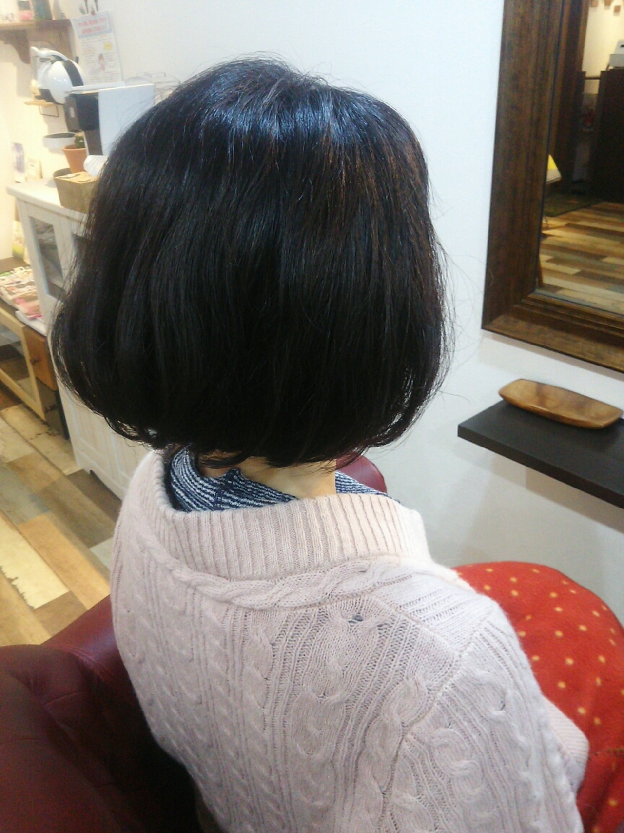 ナチュラル ショート ボブ くせ毛風 ヘアスタイルや髪型の写真・画像