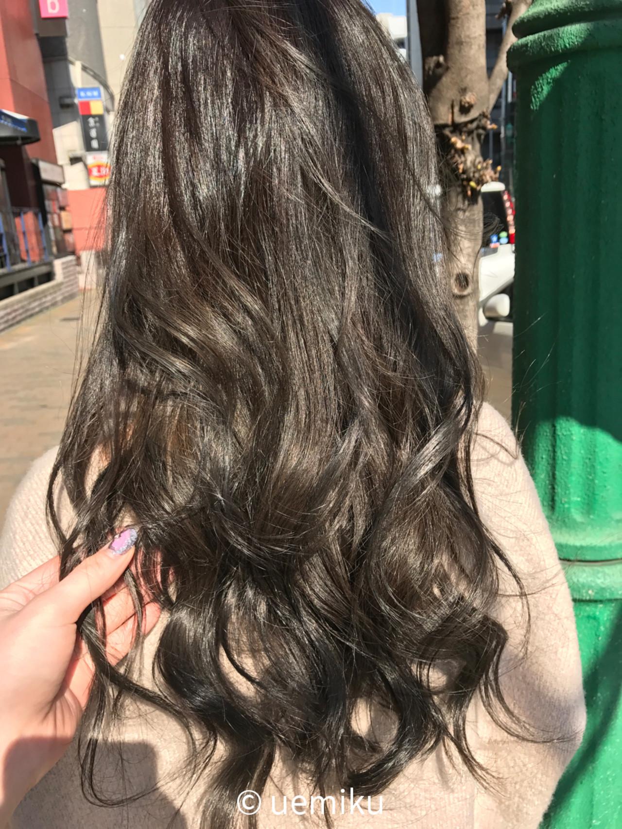 春 透明感 ロング ナチュラル ヘアスタイルや髪型の写真・画像