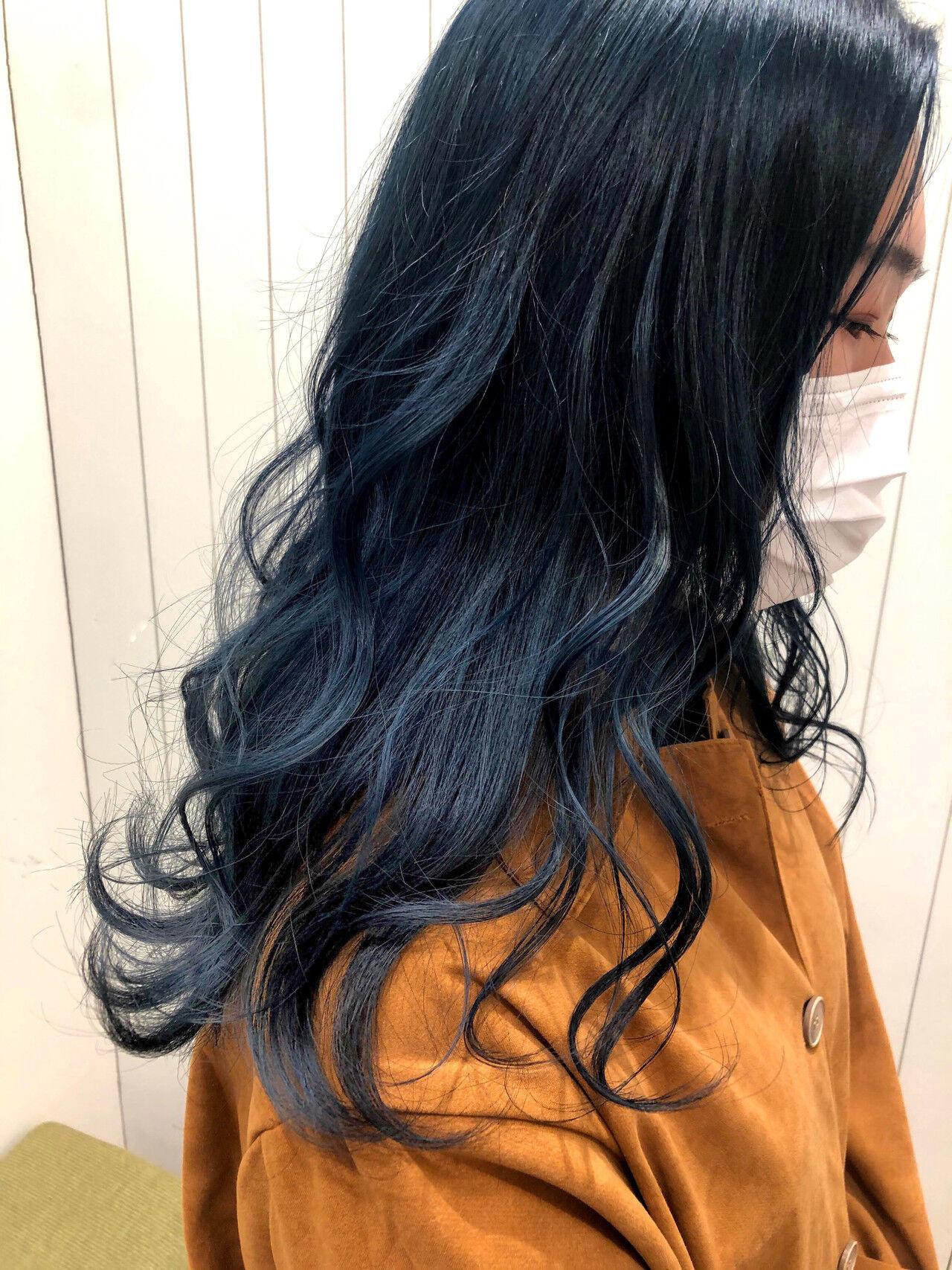 ダークカラー ナチュラル ダークトーン ロング ヘアスタイルや髪型の写真・画像