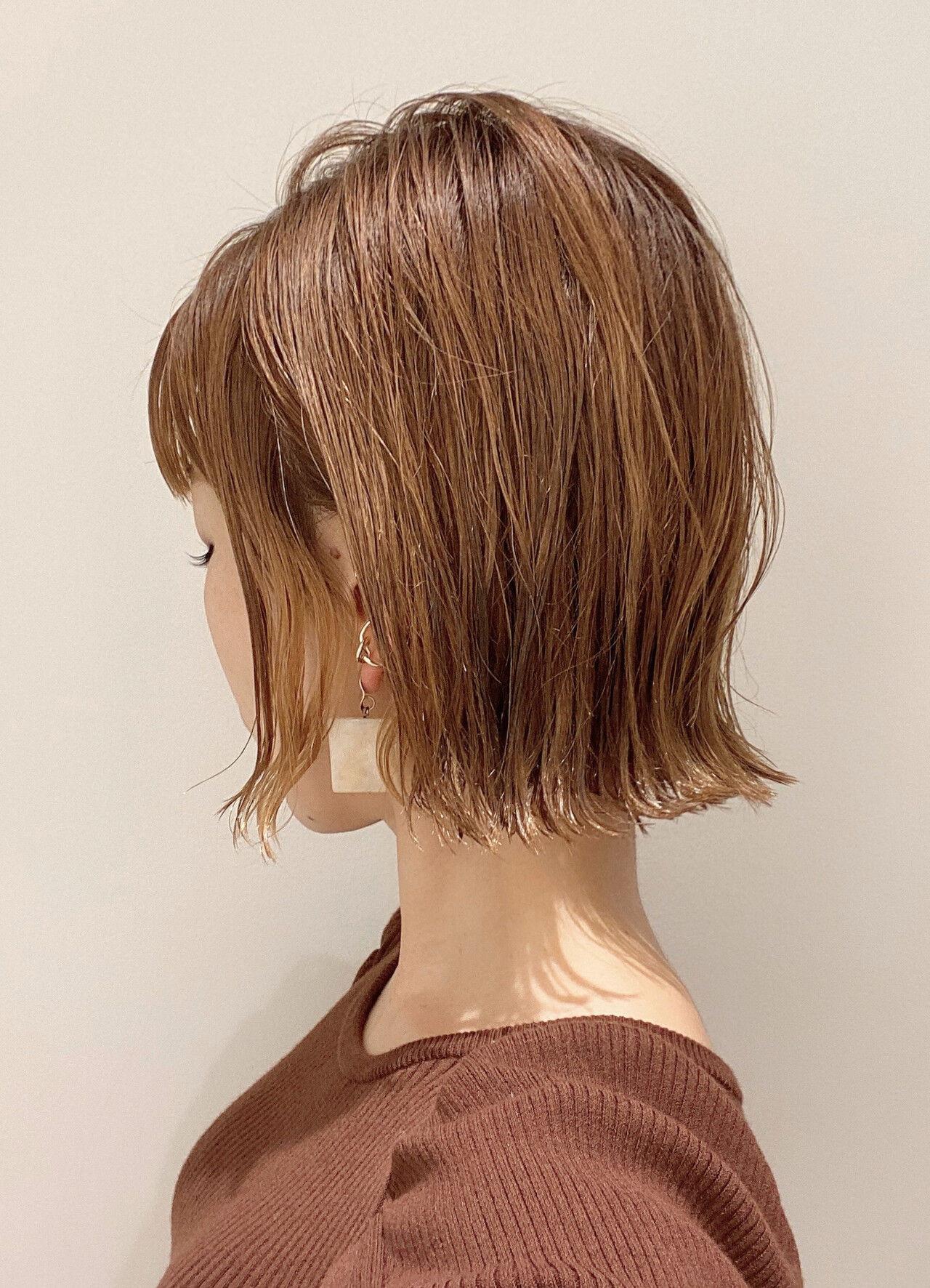 ボブ 切りっぱなしボブ 外ハネボブ ショートボブ ヘアスタイルや髪型の写真・画像