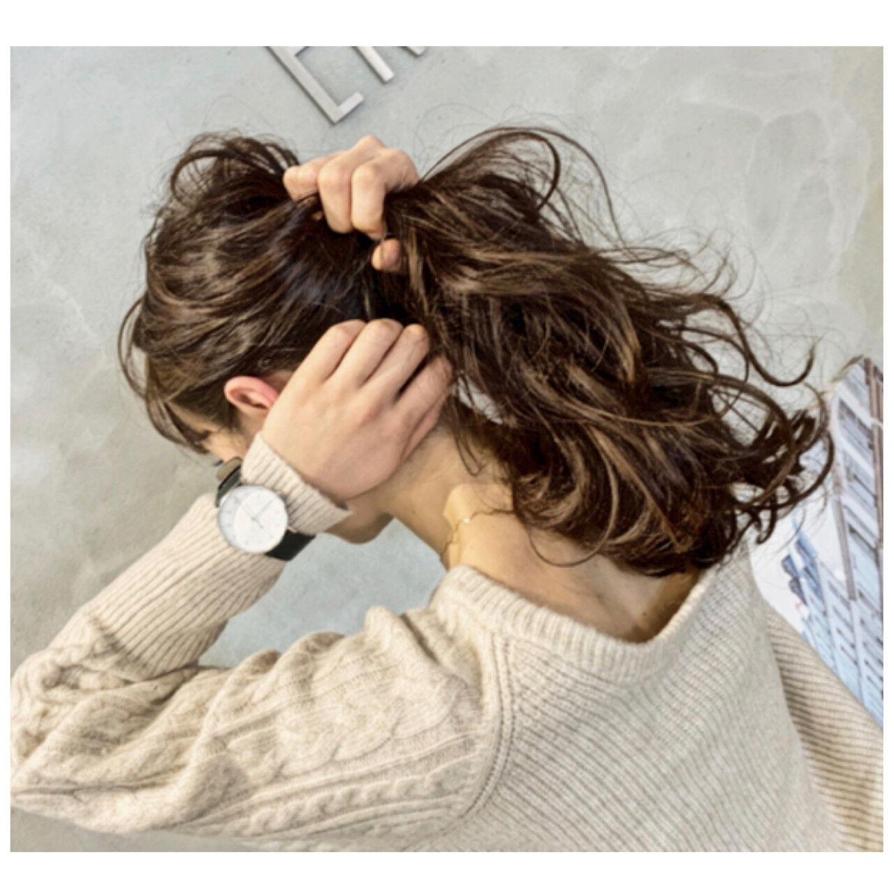 ざっくりローポニーテール 平井 潮里/ENTRAIDE  ENTRAIDE hair design studio