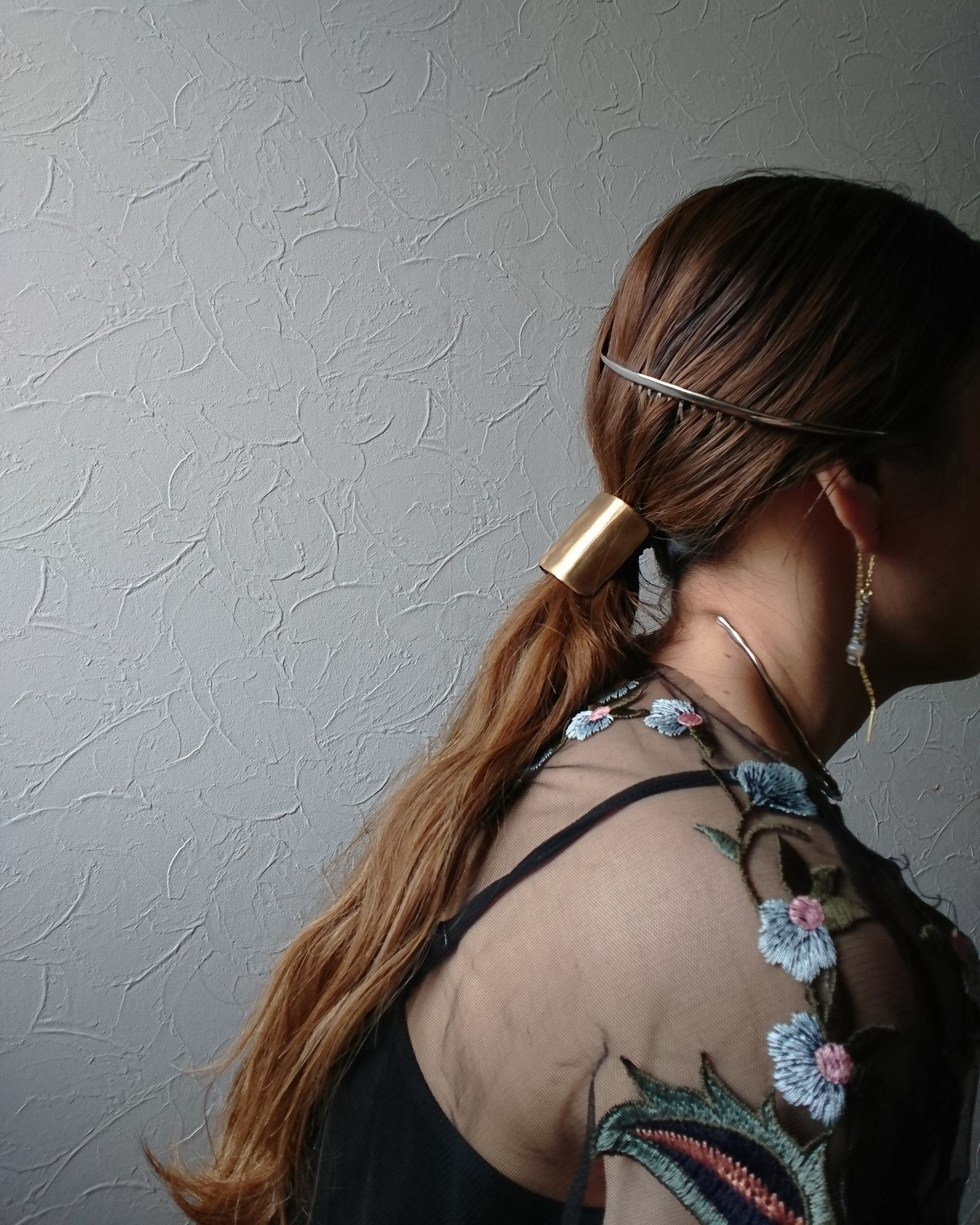簡単ヘアアレンジ オシャレ 大人かわいい ポニーテール ヘアスタイルや髪型の写真・画像