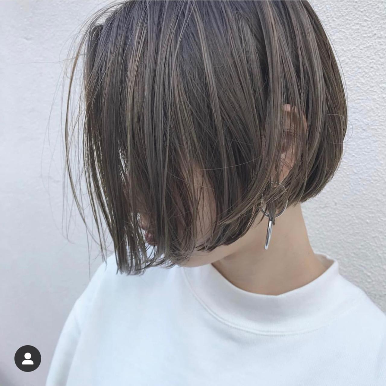 ミニボブ ベリーショート ナチュラル ショートボブ ヘアスタイルや髪型の写真・画像